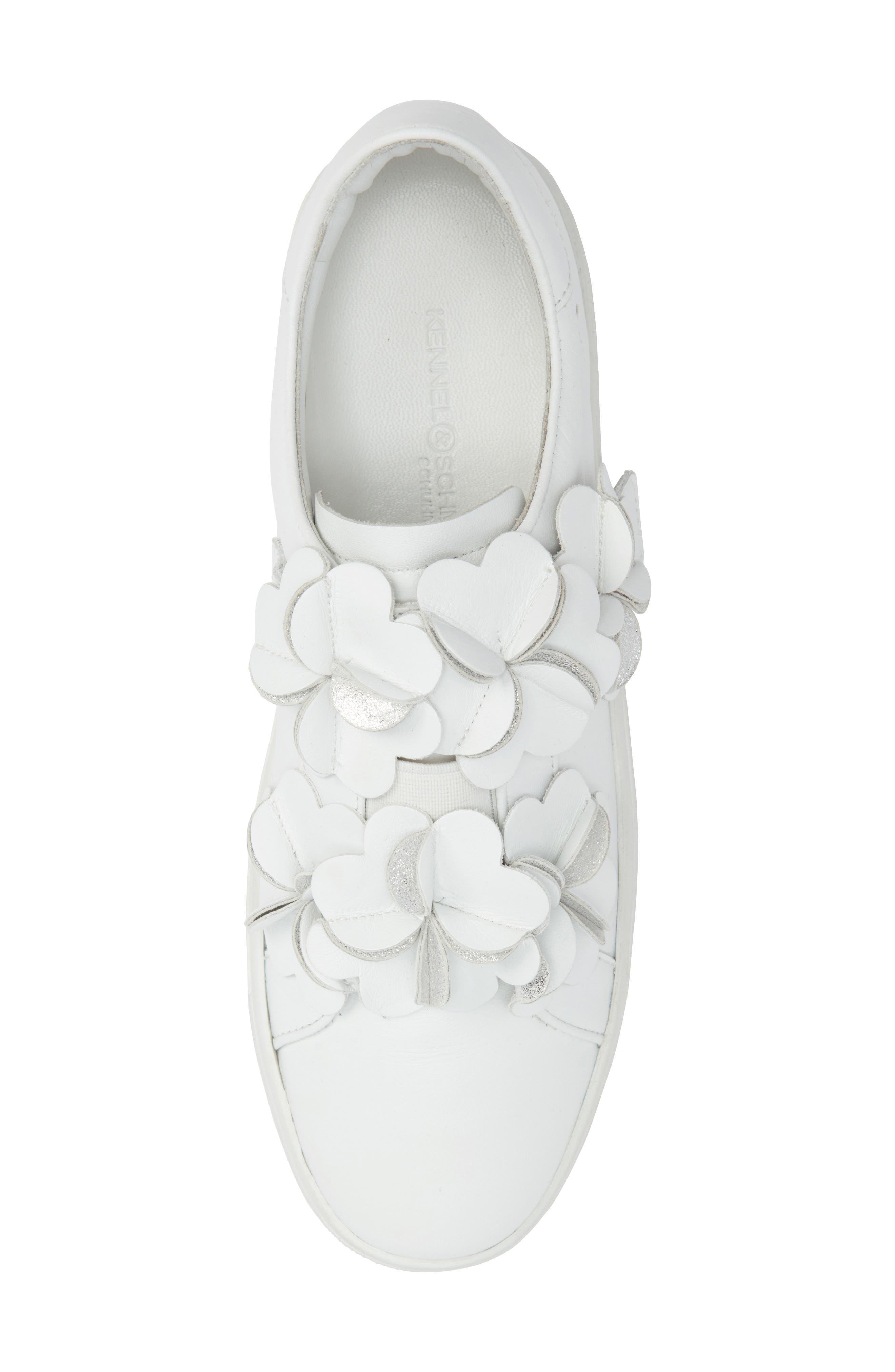 Kennel & Schmenger Town Floral Embellished Sneaker,                             Alternate thumbnail 5, color,                             100