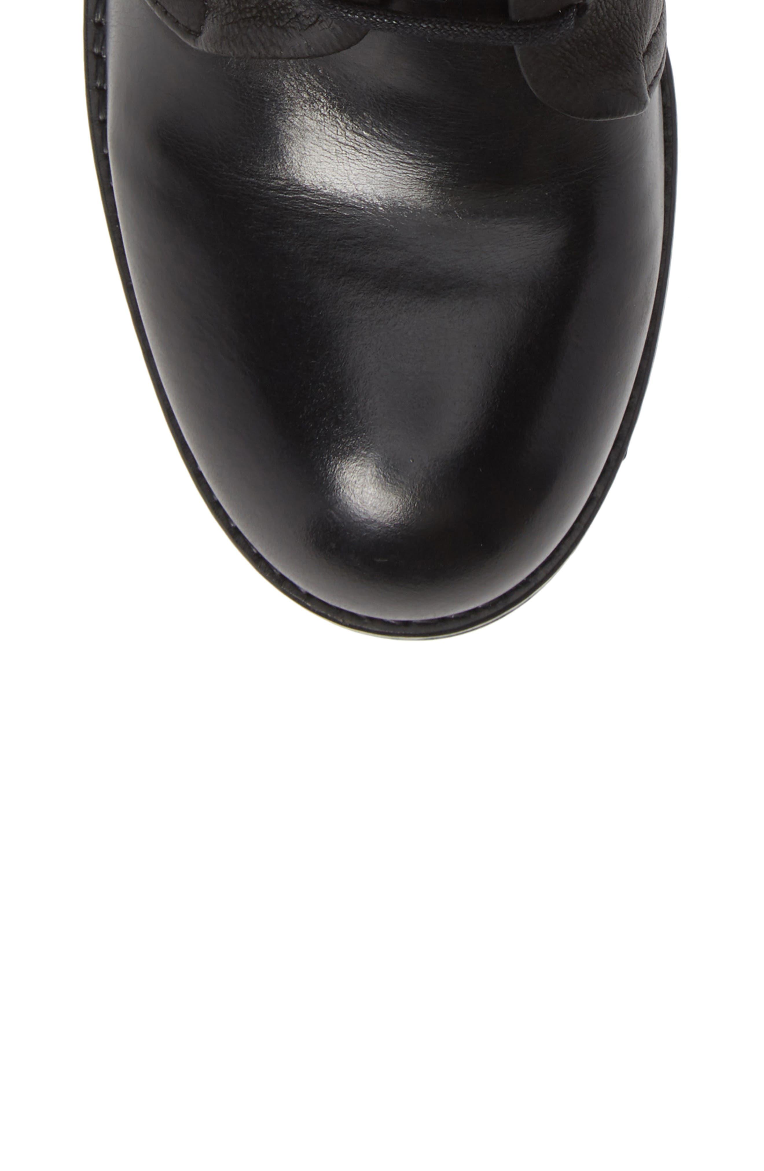 Zeko Lace-Up Boot,                             Alternate thumbnail 5, color,                             BLACK