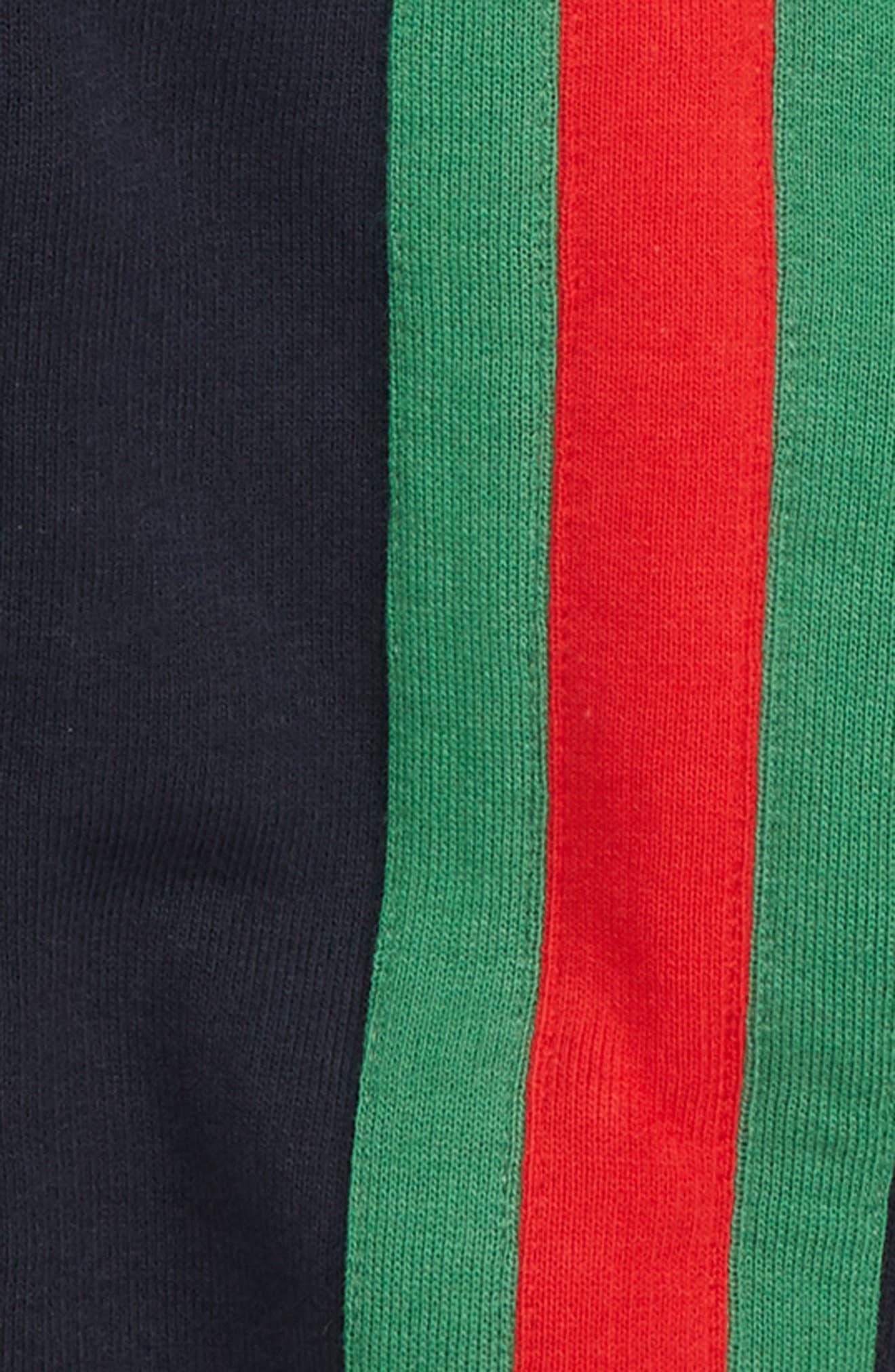 Stripe Zip Hoodie,                             Alternate thumbnail 2, color,                             493