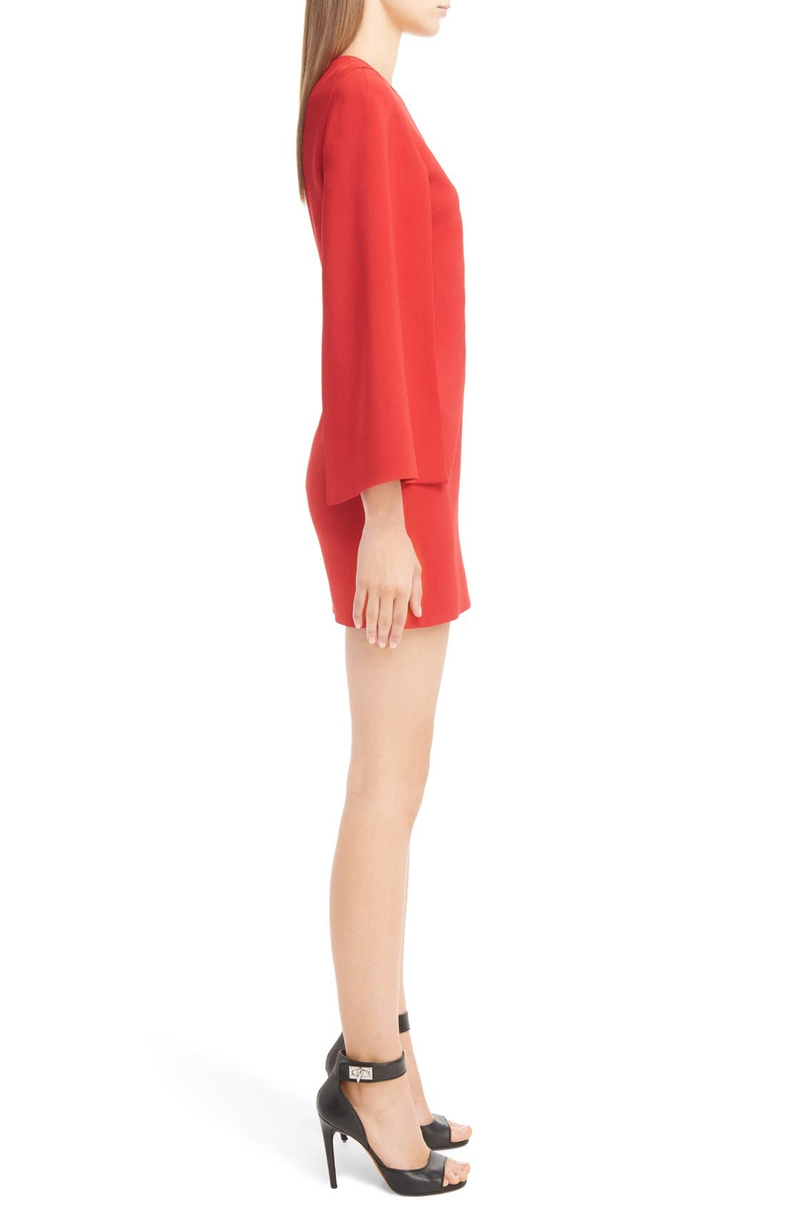 GIVENCHY,                             Cape Sleeve Dress,                             Alternate thumbnail 4, color,                             600