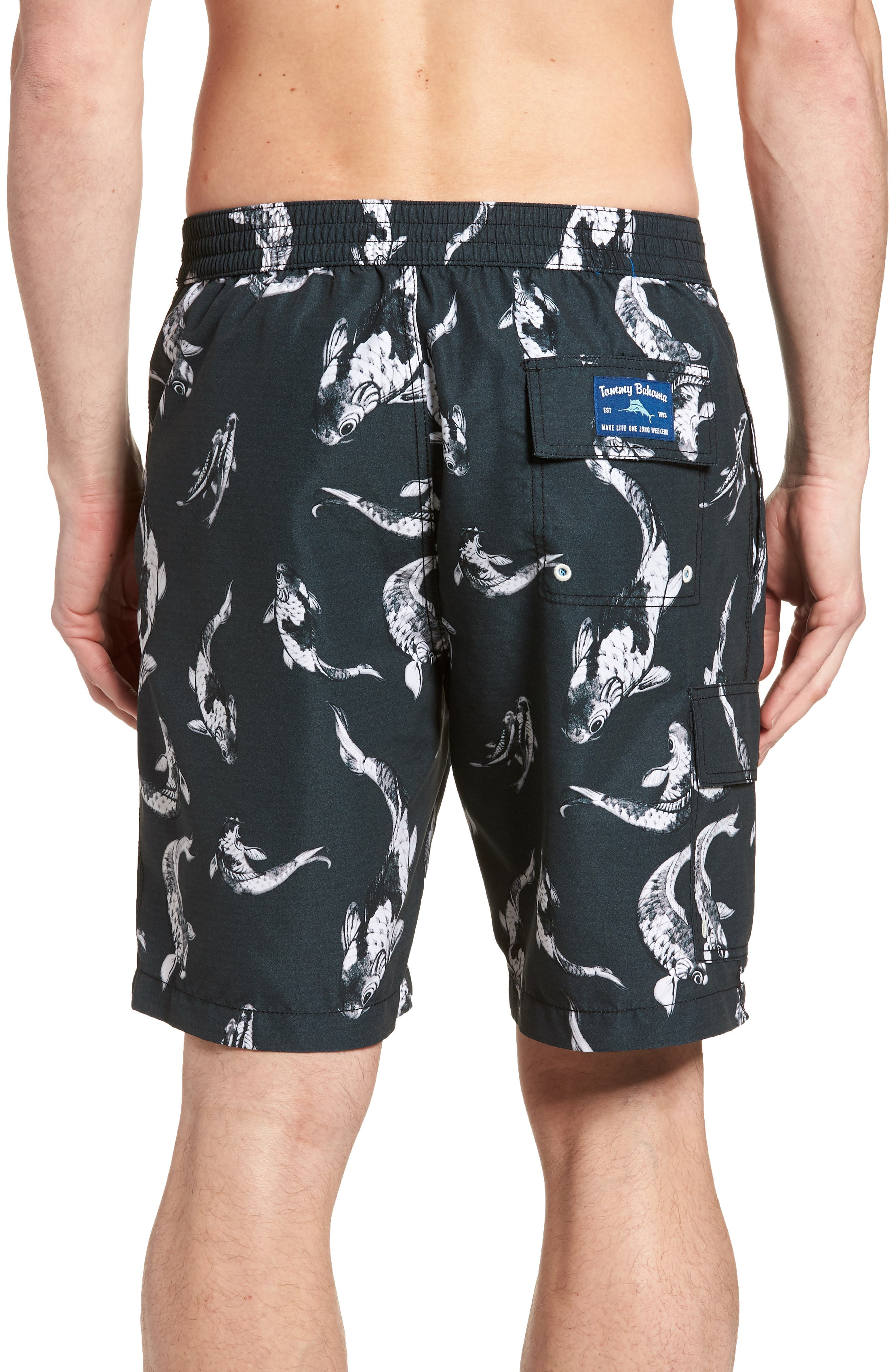 Baja Kois Are Back in Town Board Shorts,                             Alternate thumbnail 2, color,                             001