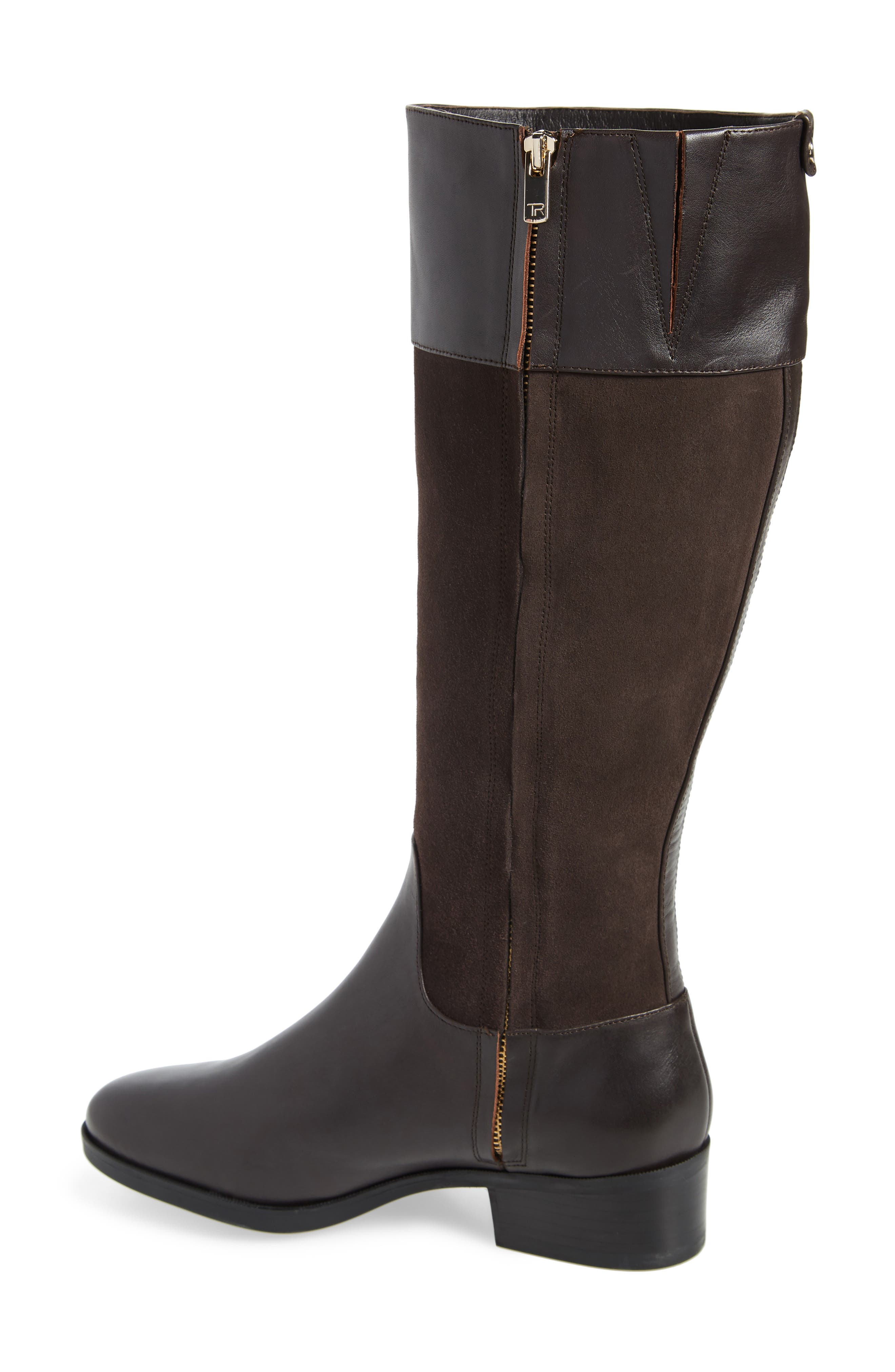 TARYN ROSE,                             Georgia Water Resistant Collection Boot,                             Alternate thumbnail 2, color,                             CHOCOLATE LEATHER/ SUEDE