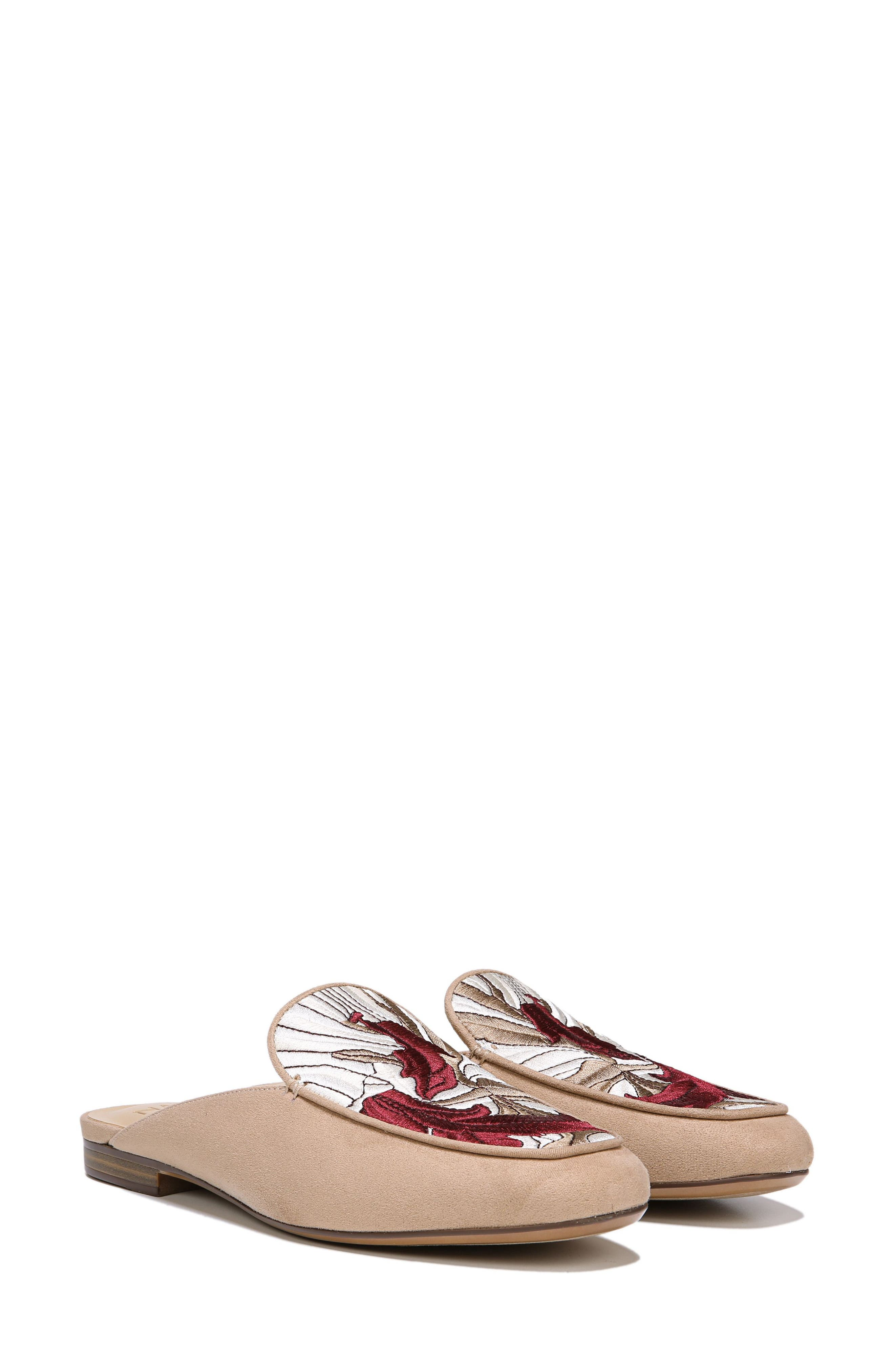 Eden II Embroidered Mule,                             Alternate thumbnail 8, color,                             BARLEY FABRIC