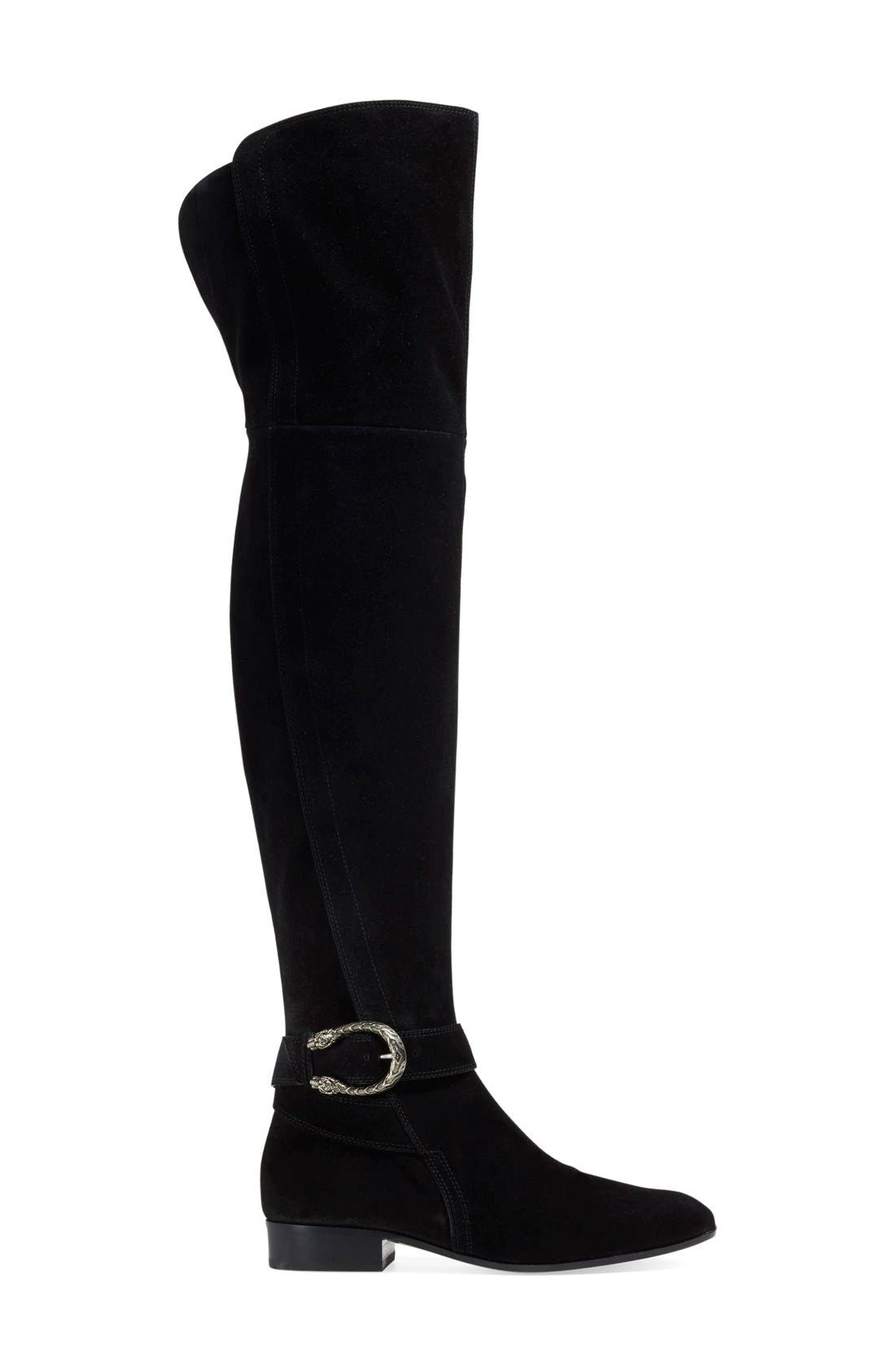 'Dionysus' Over the Knee Boot,                             Alternate thumbnail 2, color,                             001
