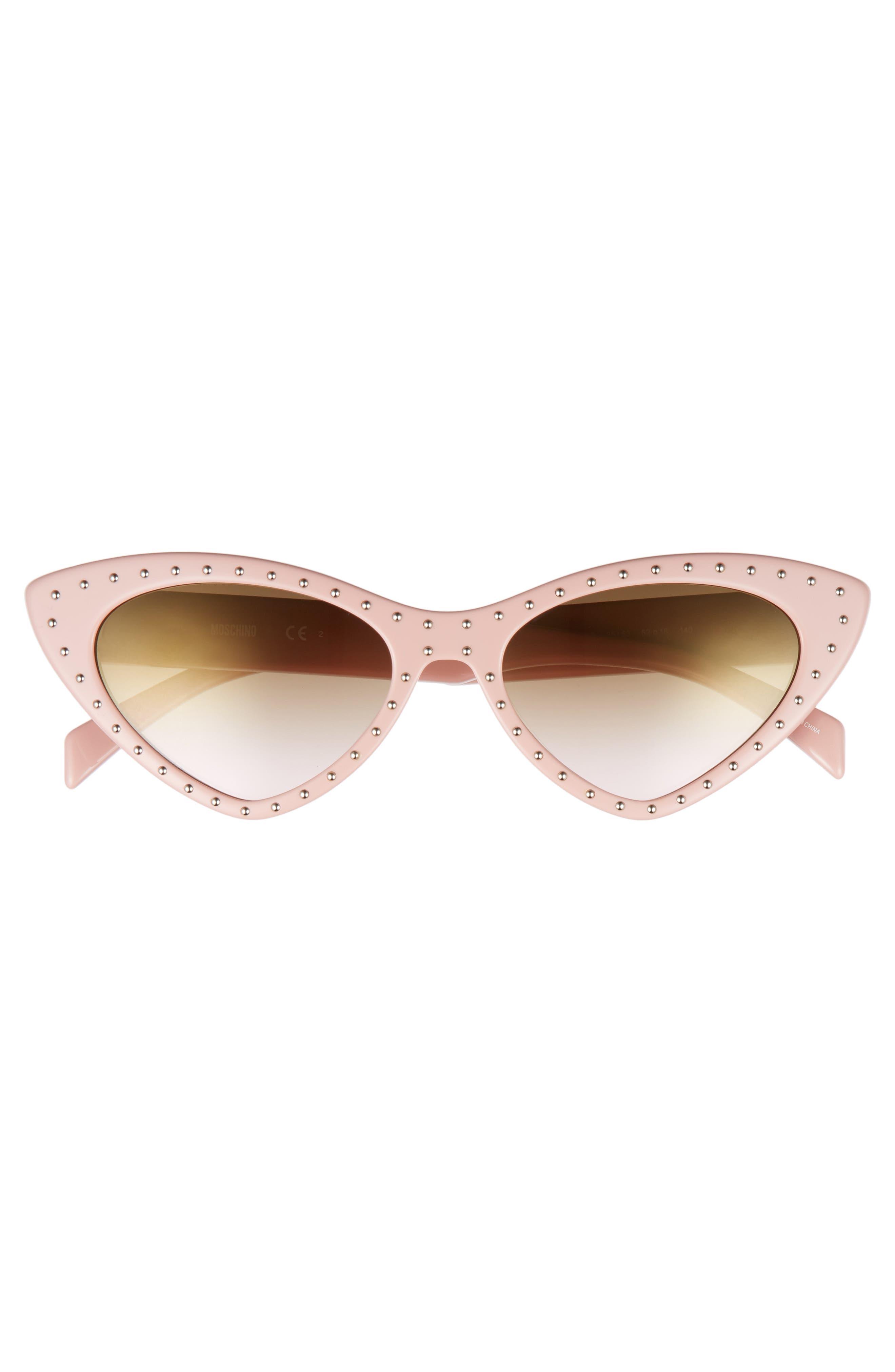 52mm Cat's Eye Sunglasses,                             Alternate thumbnail 3, color,                             PINK