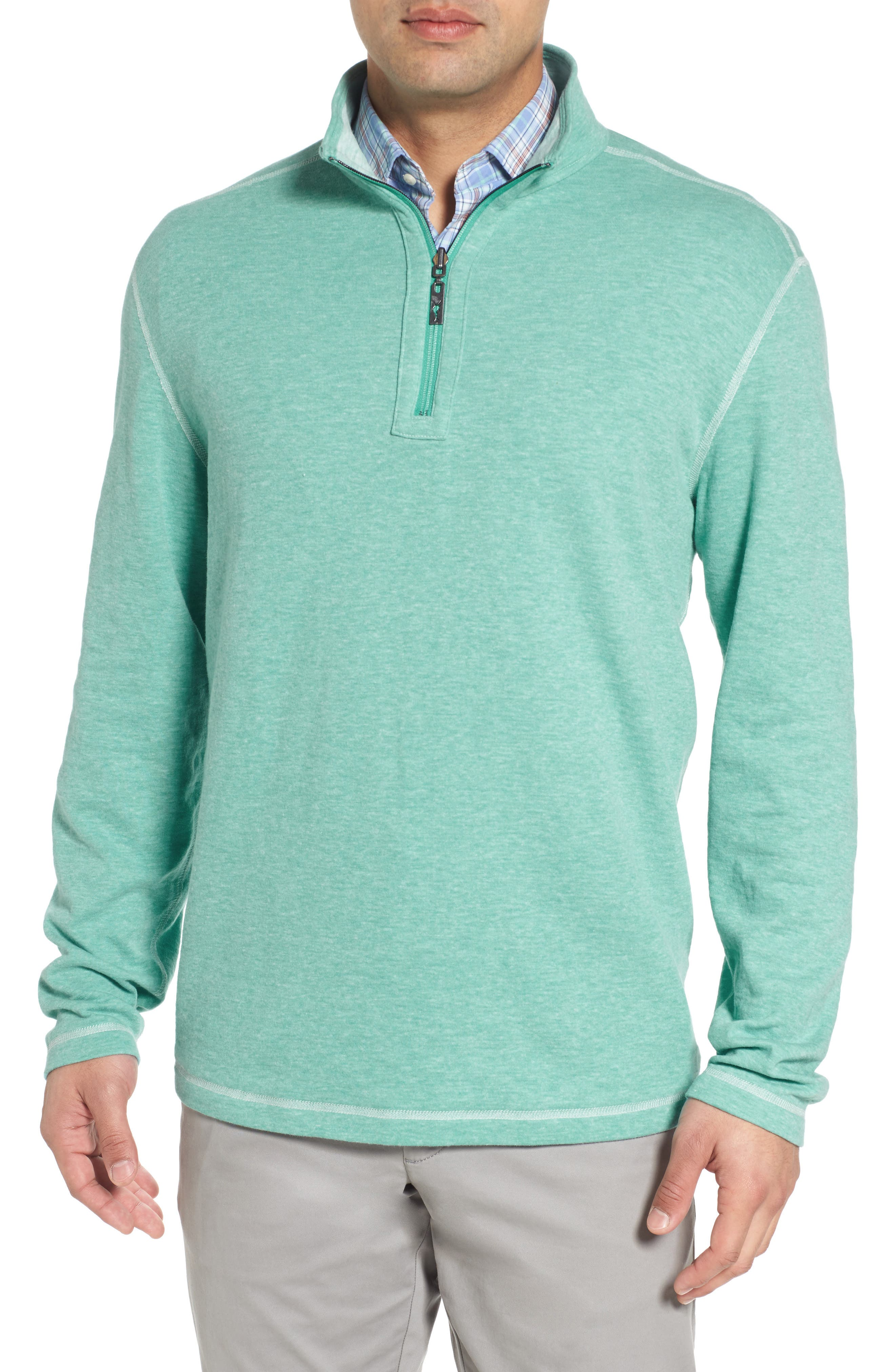 Sea Glass Reversible Quarter Zip Pullover,                             Alternate thumbnail 11, color,