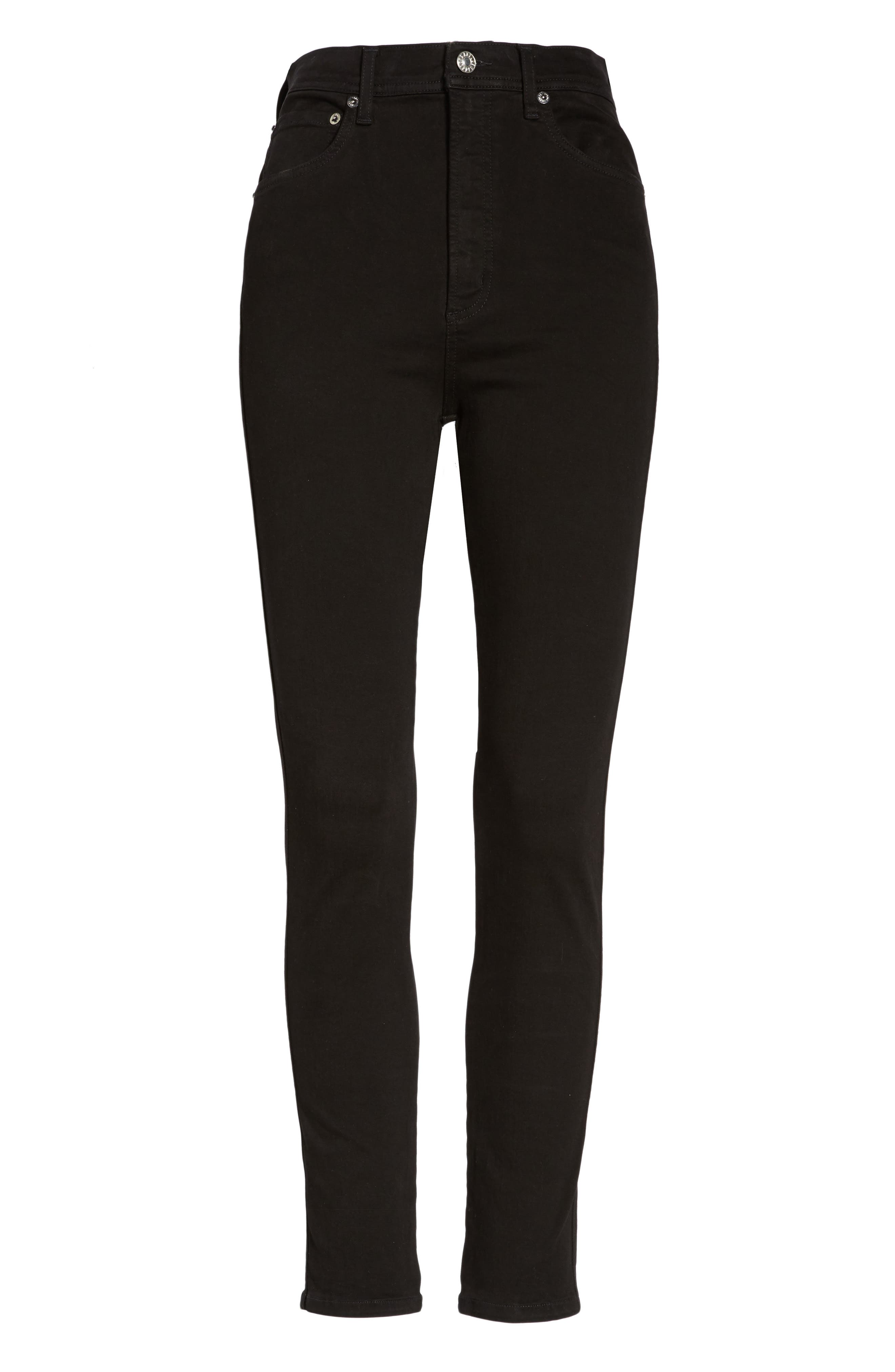Roxanne Super High Rise Skinny Jeans,                             Alternate thumbnail 7, color,                             002