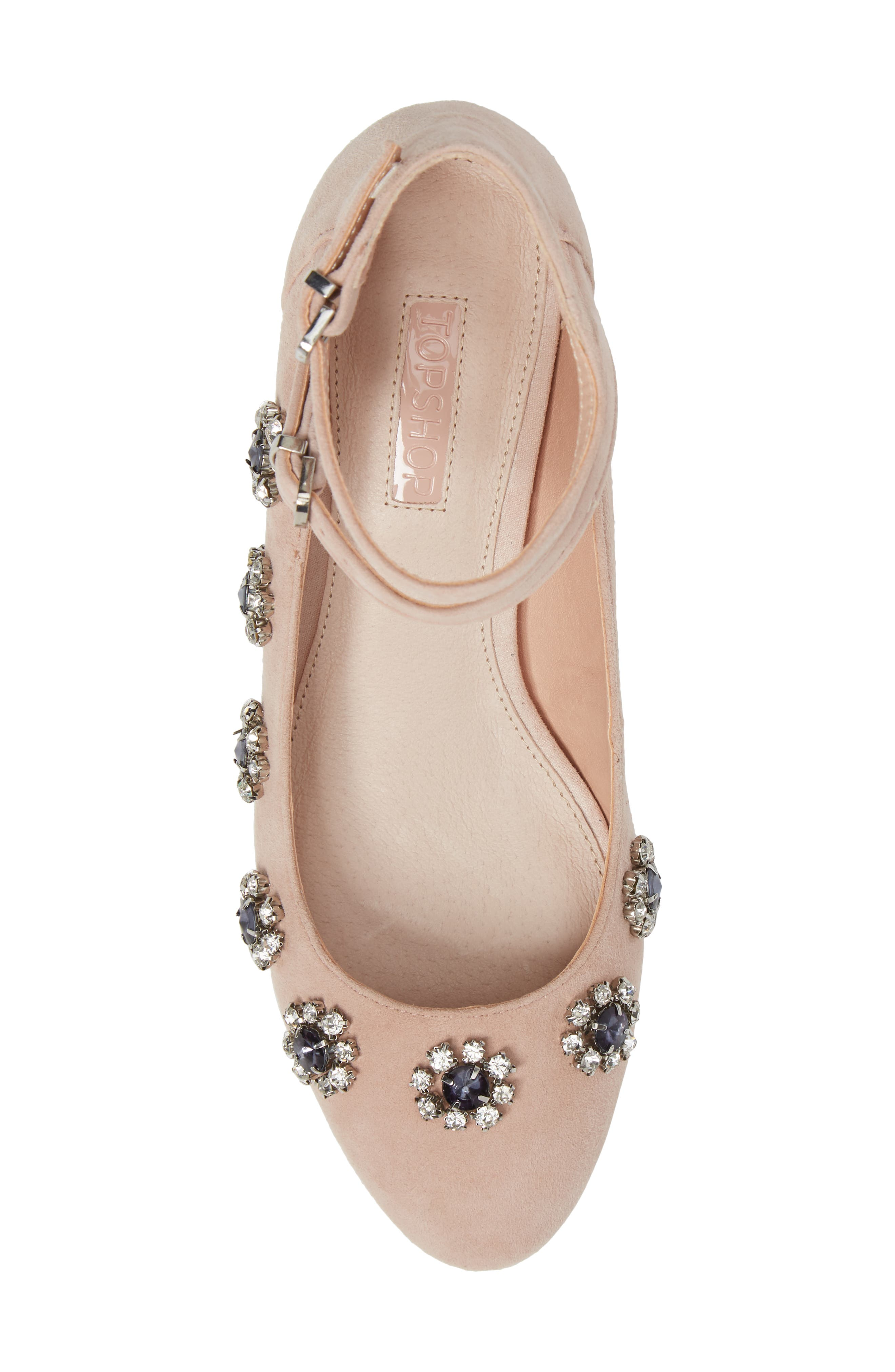 Jaida Crystal Embellished Pump,                             Alternate thumbnail 5, color,                             250