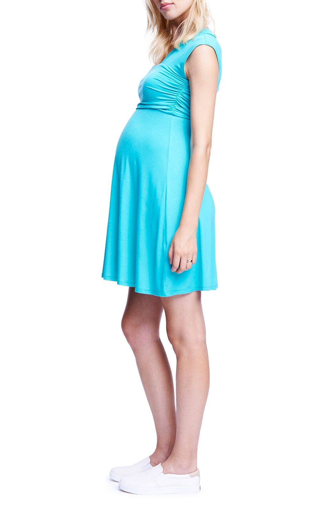 'Mini Sweetheart' Dress,                             Alternate thumbnail 3, color,                             MINT