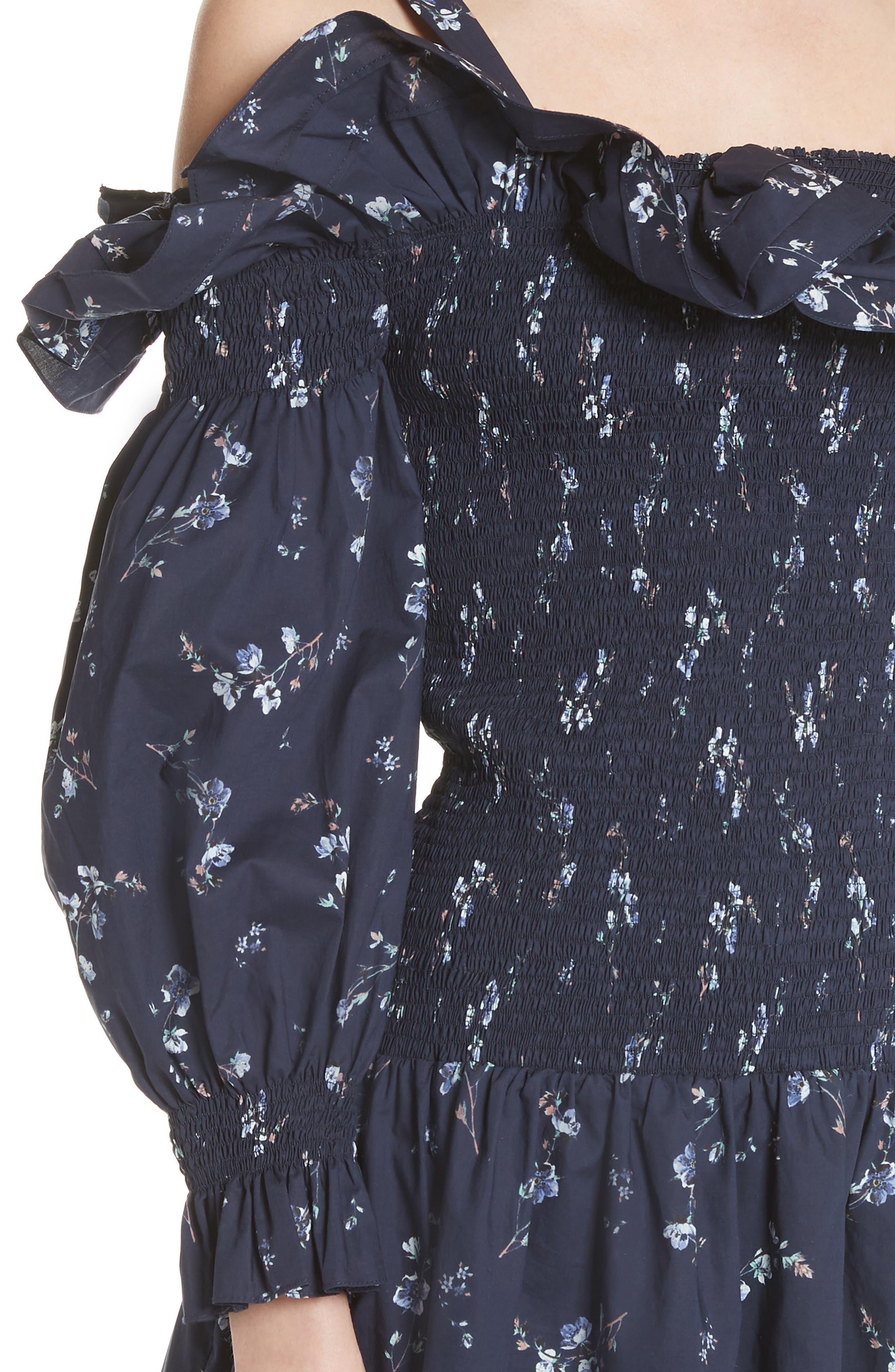Francine Cold Shoulder Dress,                             Alternate thumbnail 4, color,