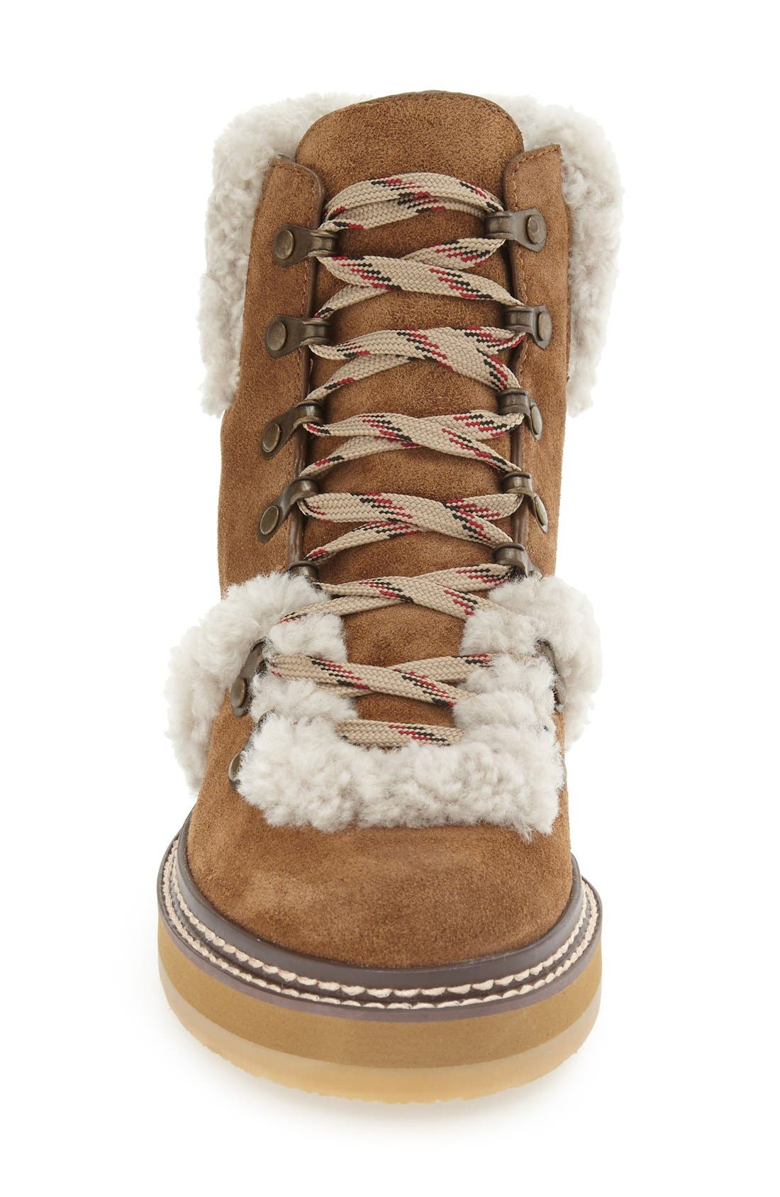 'Eileen' Genuine Shearling Boot,                             Alternate thumbnail 6, color,