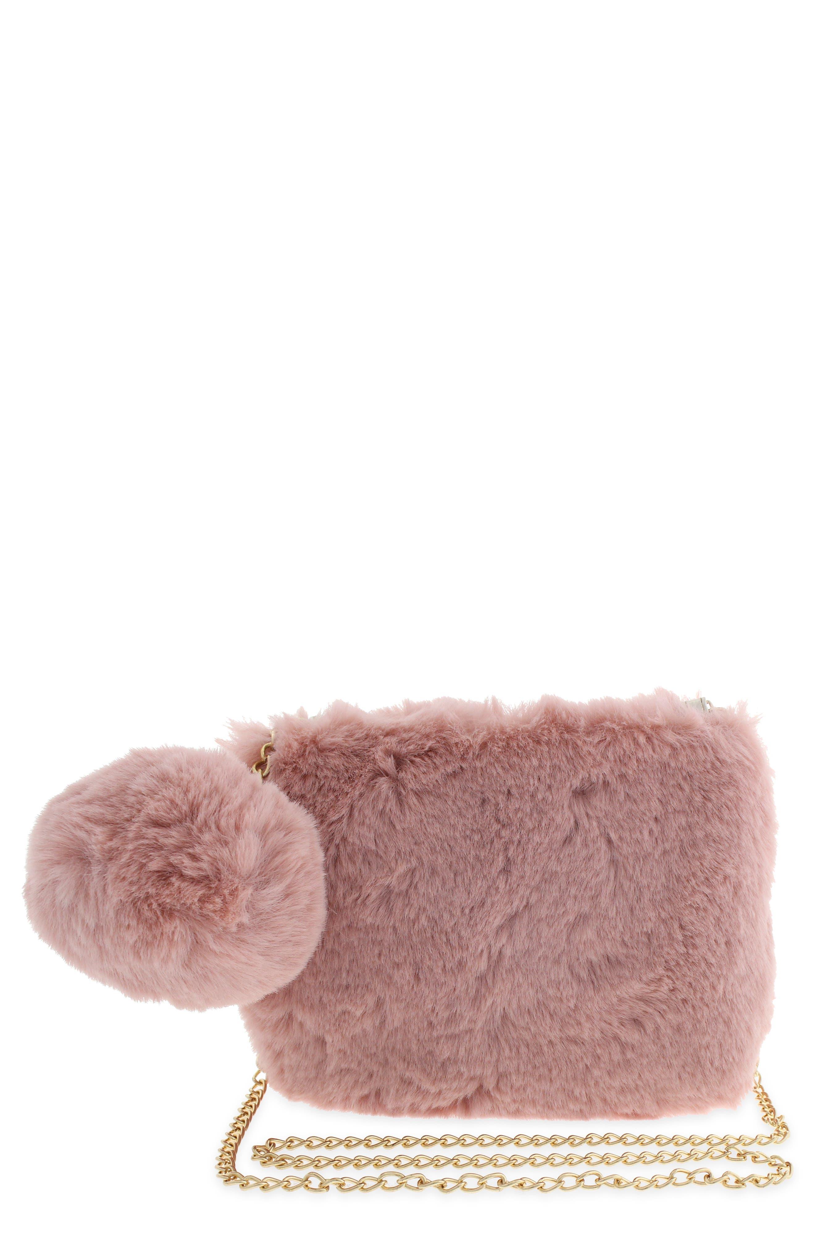 Girls Capelli New York Faux Fur Crossbody Bag