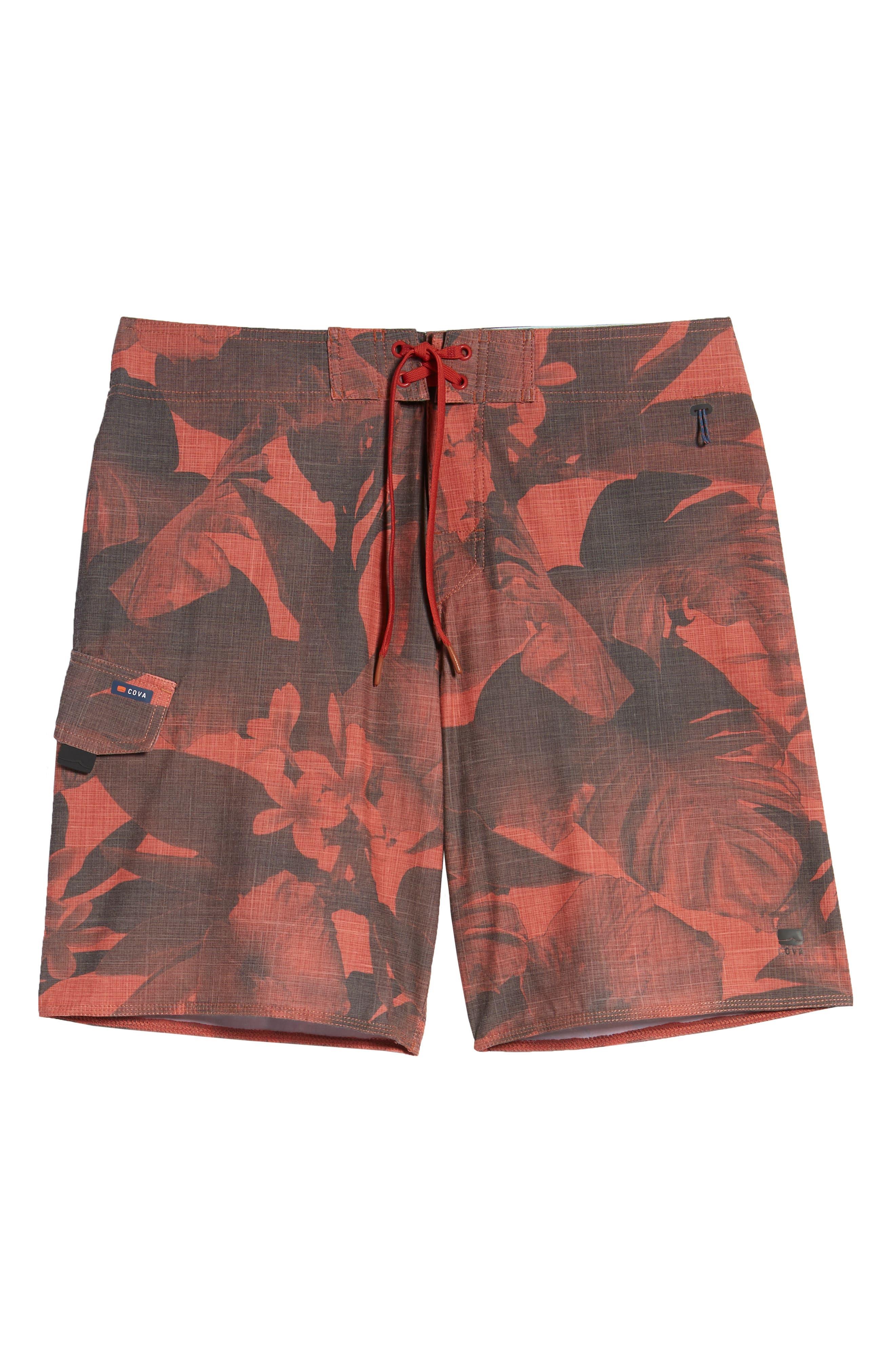 COVA,                             Regular Fit Lazy Daze Board Shorts,                             Alternate thumbnail 6, color,                             602