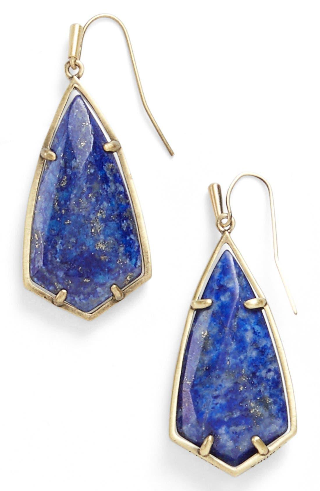 Carla Semiprecious Stone Drop Earrings,                             Main thumbnail 5, color,