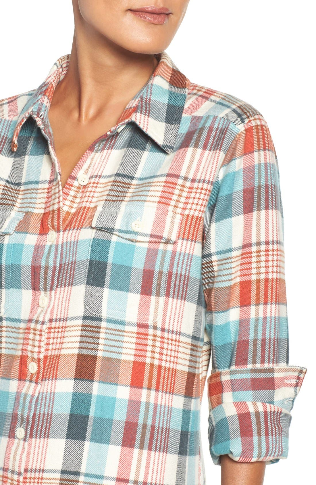 'Fjord' Flannel Shirt,                             Alternate thumbnail 79, color,