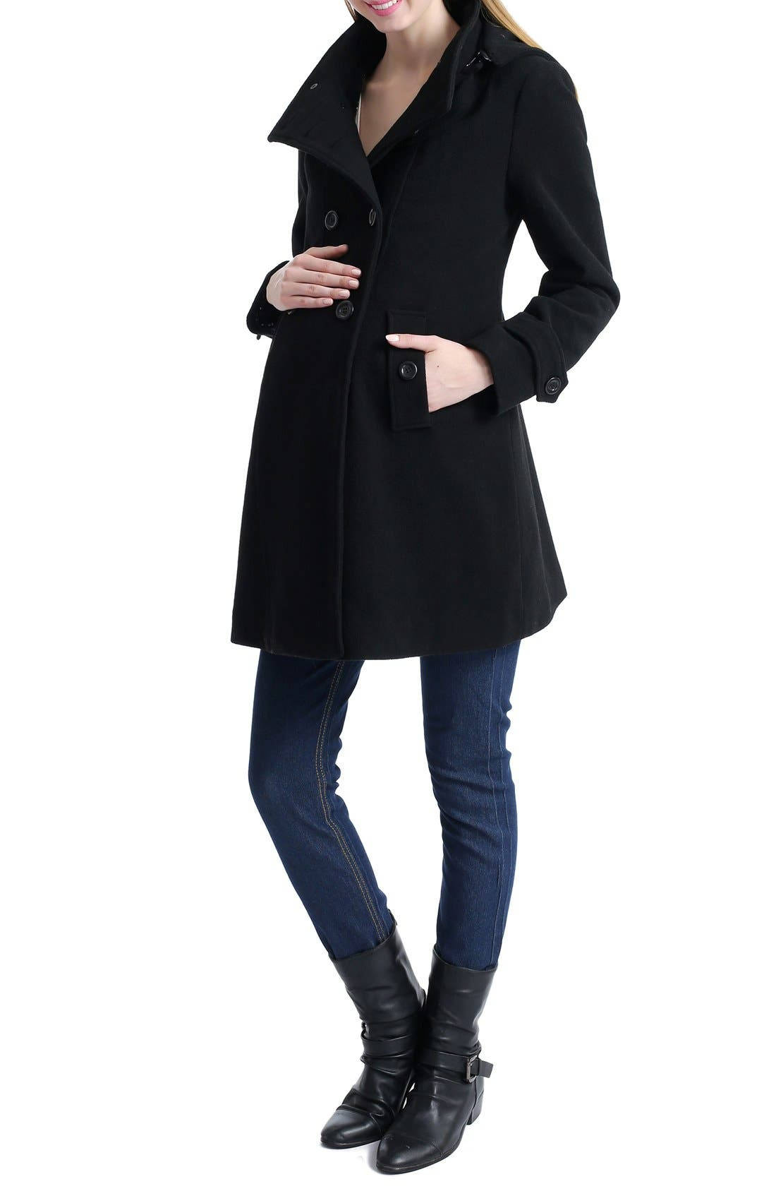 KIMI AND KAI,                             'Penelope' Maternity Trench Coat,                             Main thumbnail 1, color,                             001