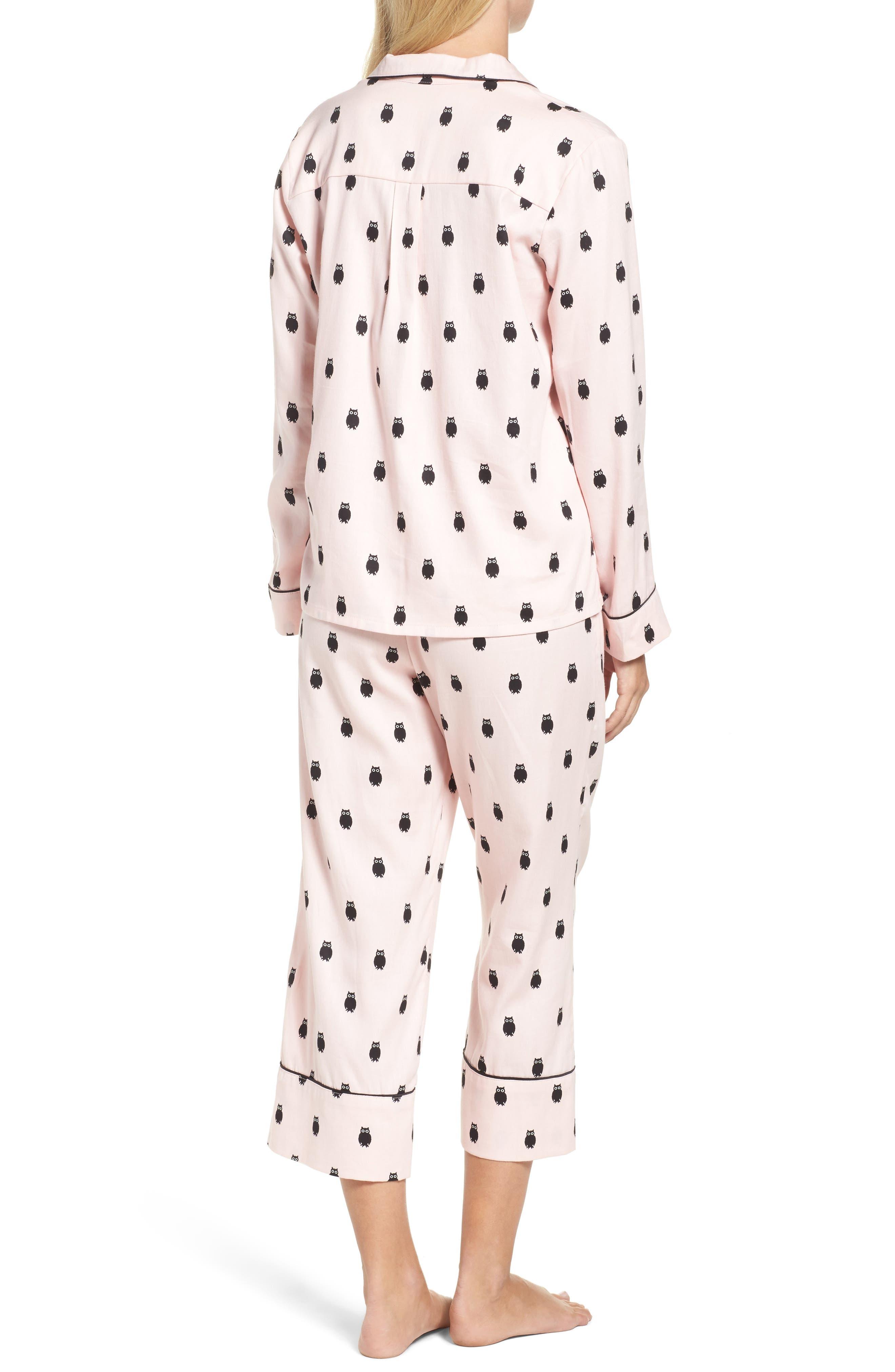 crop pajamas,                             Alternate thumbnail 2, color,                             650