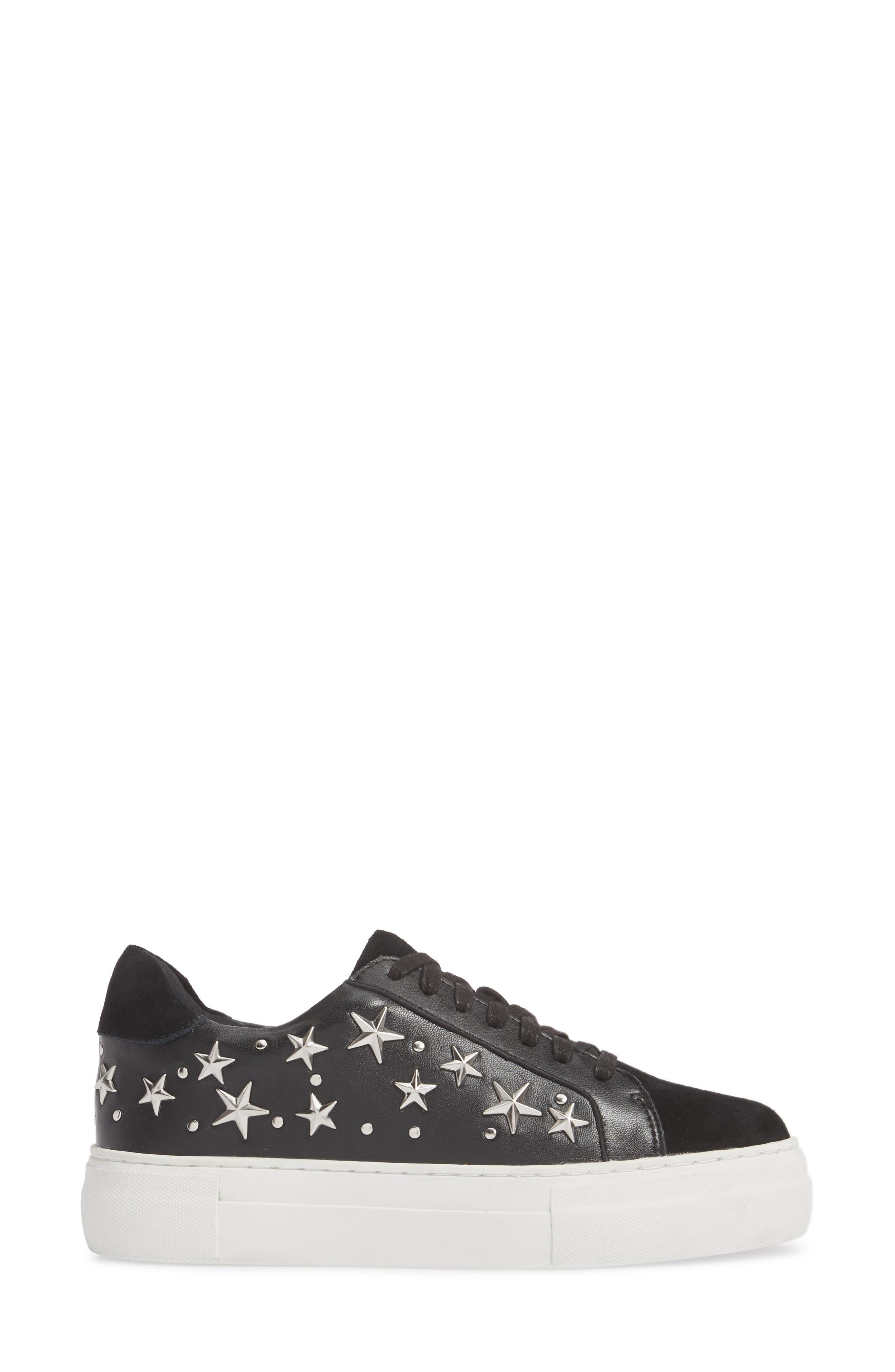 Active Star Platform Sneaker,                             Alternate thumbnail 3, color,                             001