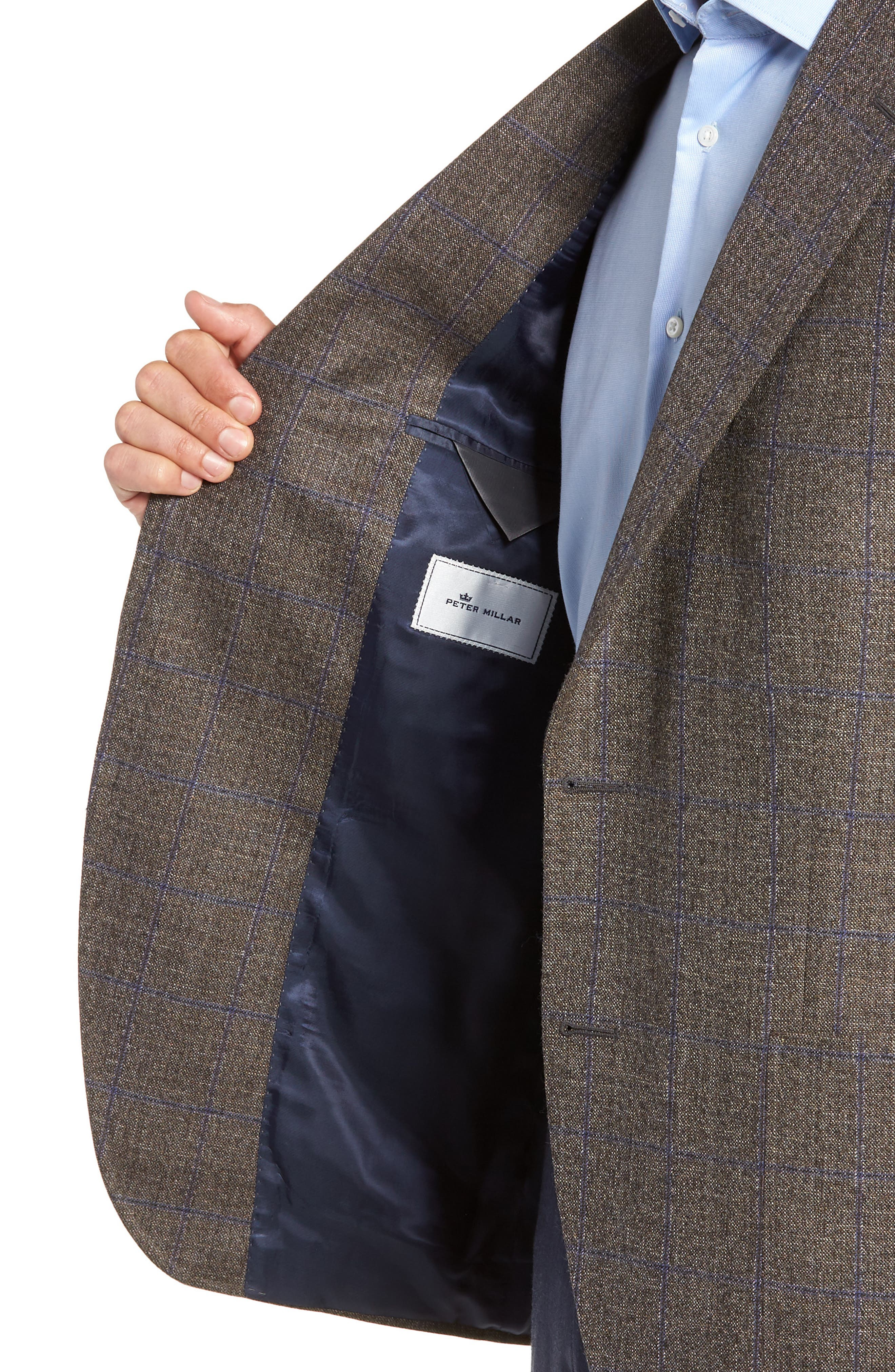 Hyperlight Classic Fit Wool Sport Coat,                             Alternate thumbnail 4, color,                             BROWN