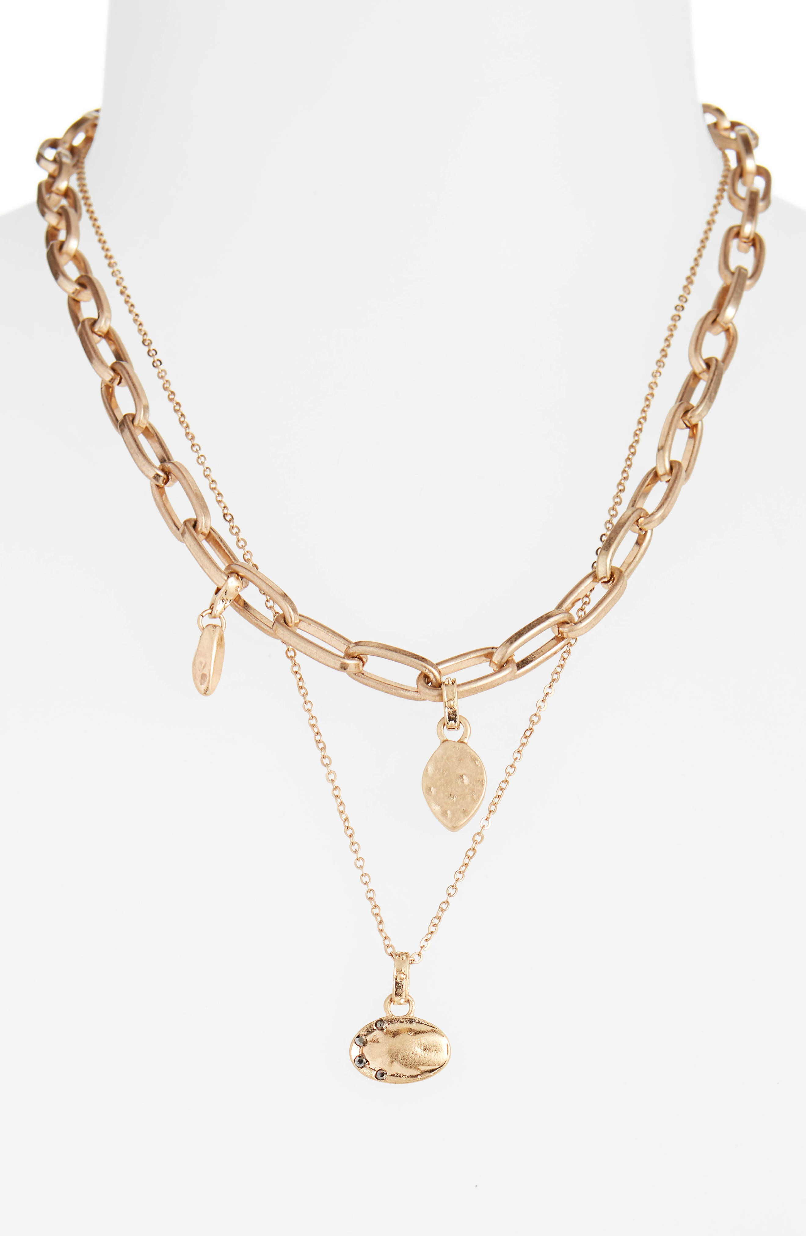 Tier Chain Link Necklace,                             Alternate thumbnail 2, color,                             001
