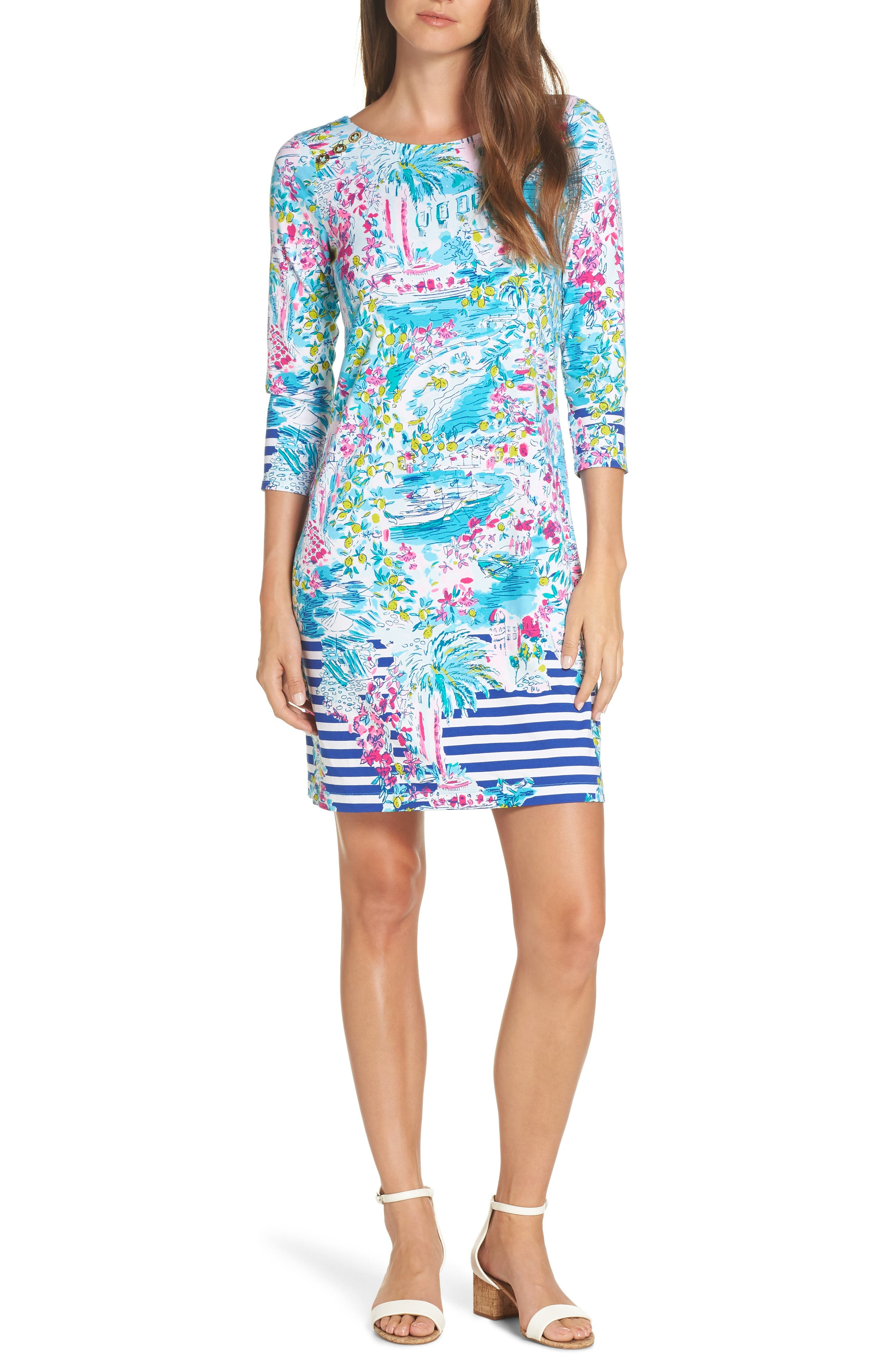 Lilly Pulitzer Pearson Upf 50+ Shift Dress, Blue