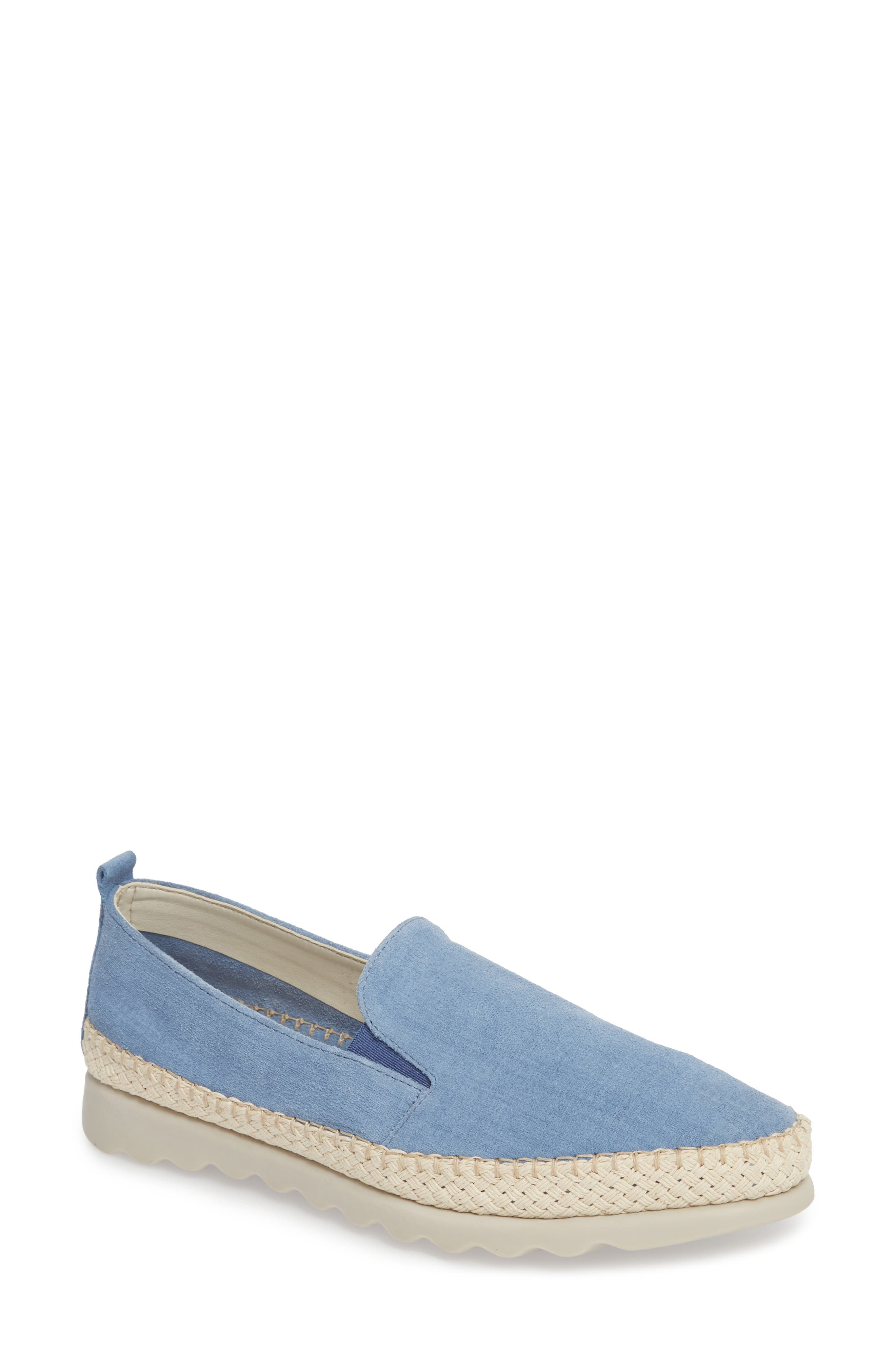 Chappie Slip-On Sneaker,                             Main thumbnail 1, color,                             DENIM PRINTED SUEDE