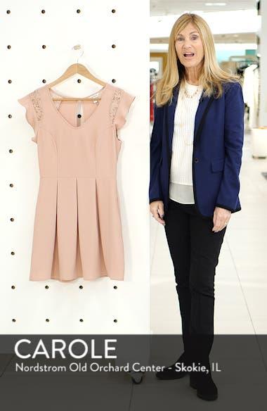 Crepe Flutter Sleeve Fit & Flare Dress, sales video thumbnail