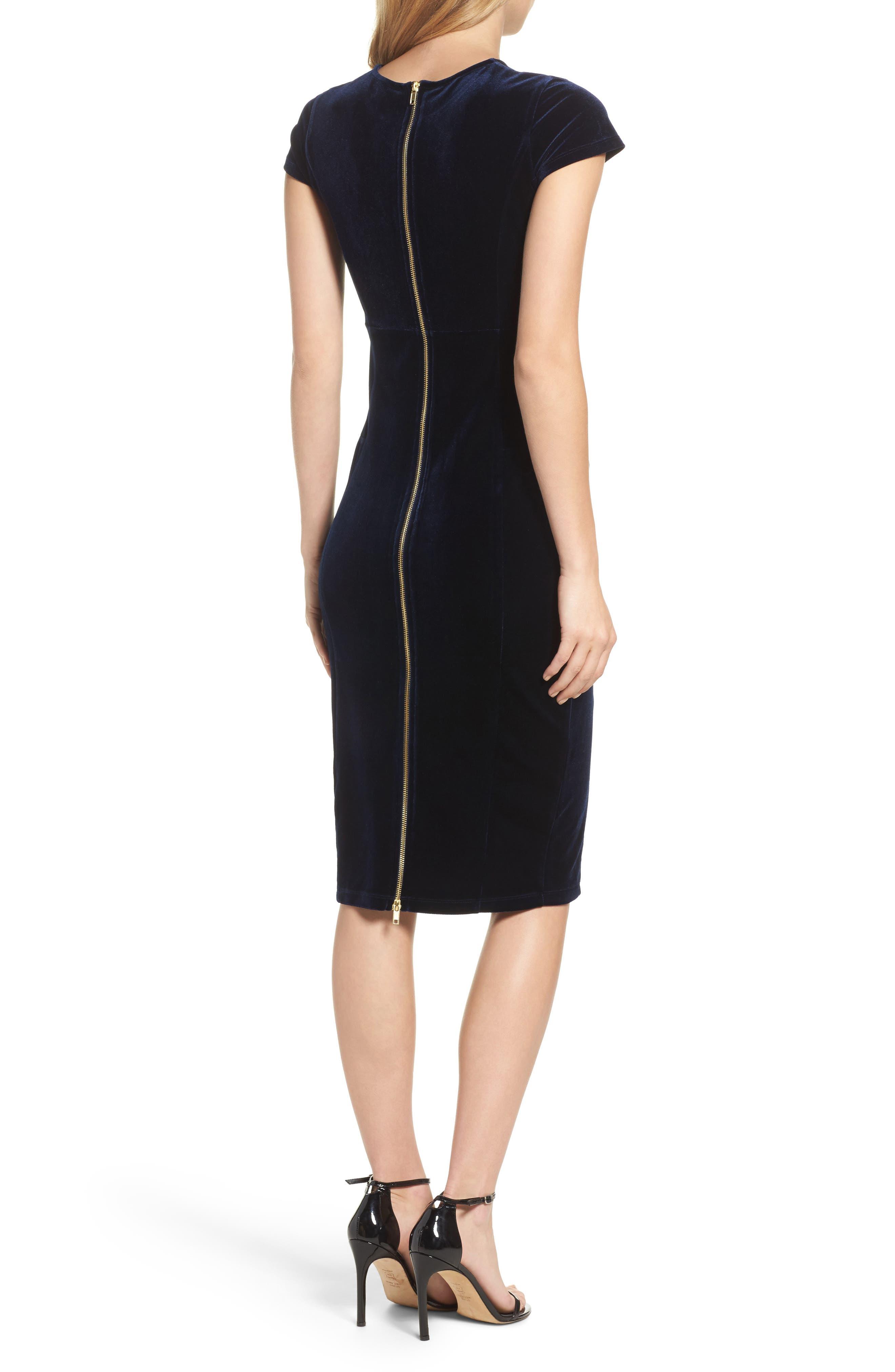 Vista Velvet Midi Dress,                             Alternate thumbnail 2, color,                             418