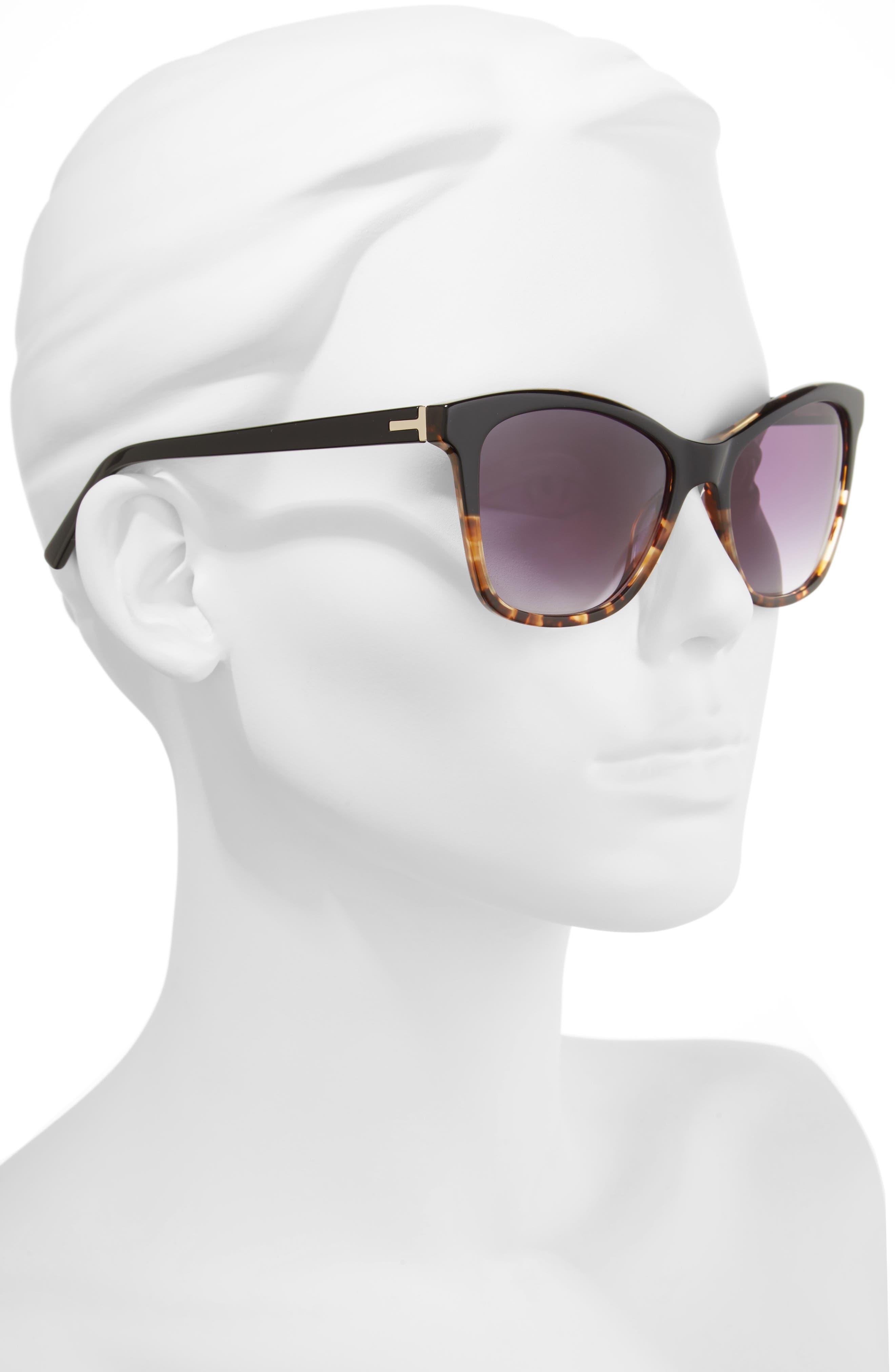 55mm Cat Eye Sunglasses,                             Alternate thumbnail 3, color,