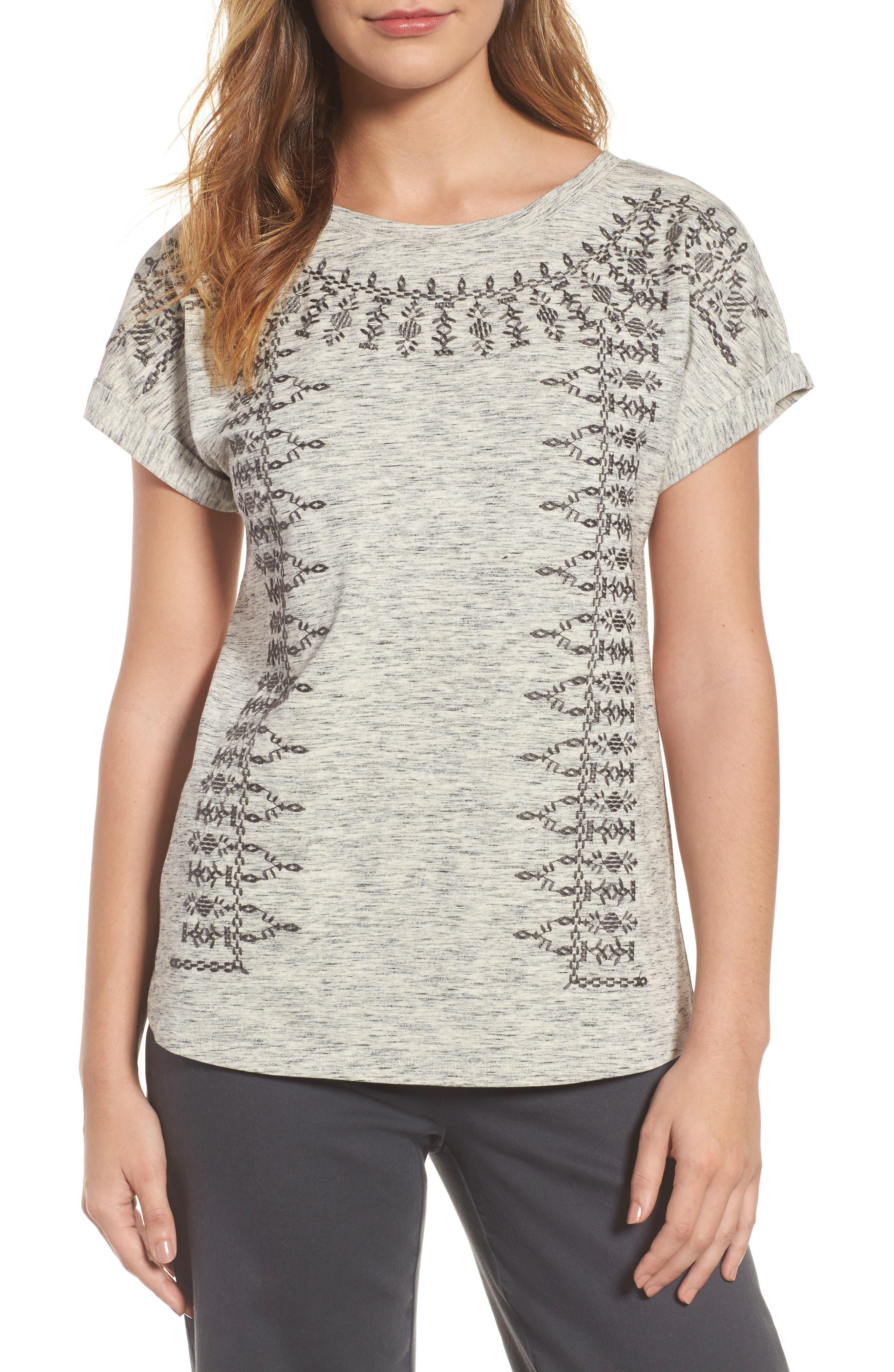 Henna Short Sleeve Top,                             Main thumbnail 1, color,                             050