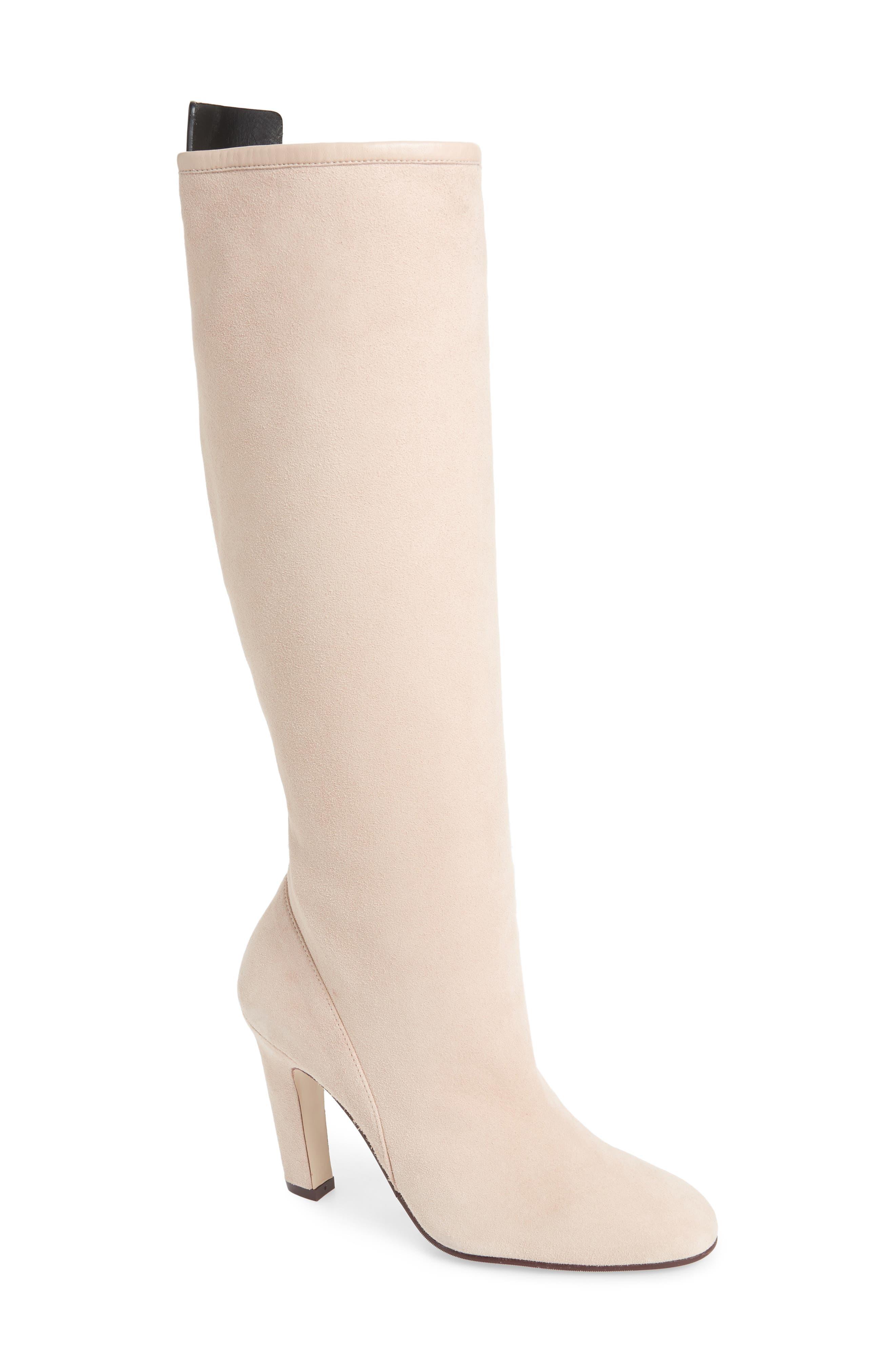 Stuart Weitzman Charlie Knee High Boot- Pink