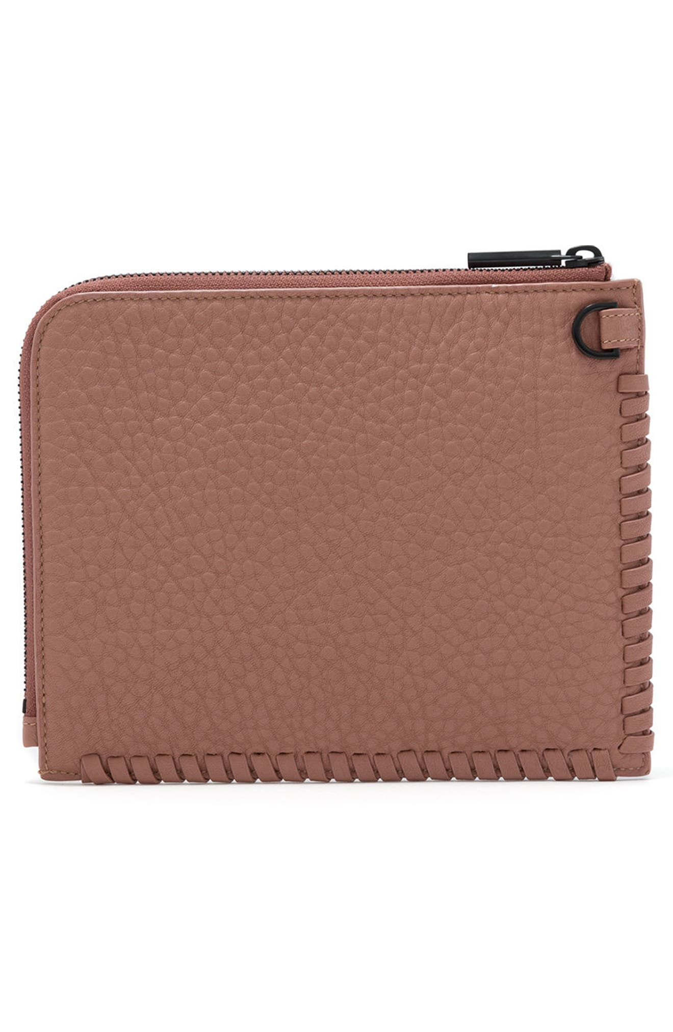 Small Elle Leather Clutch,                             Alternate thumbnail 15, color,