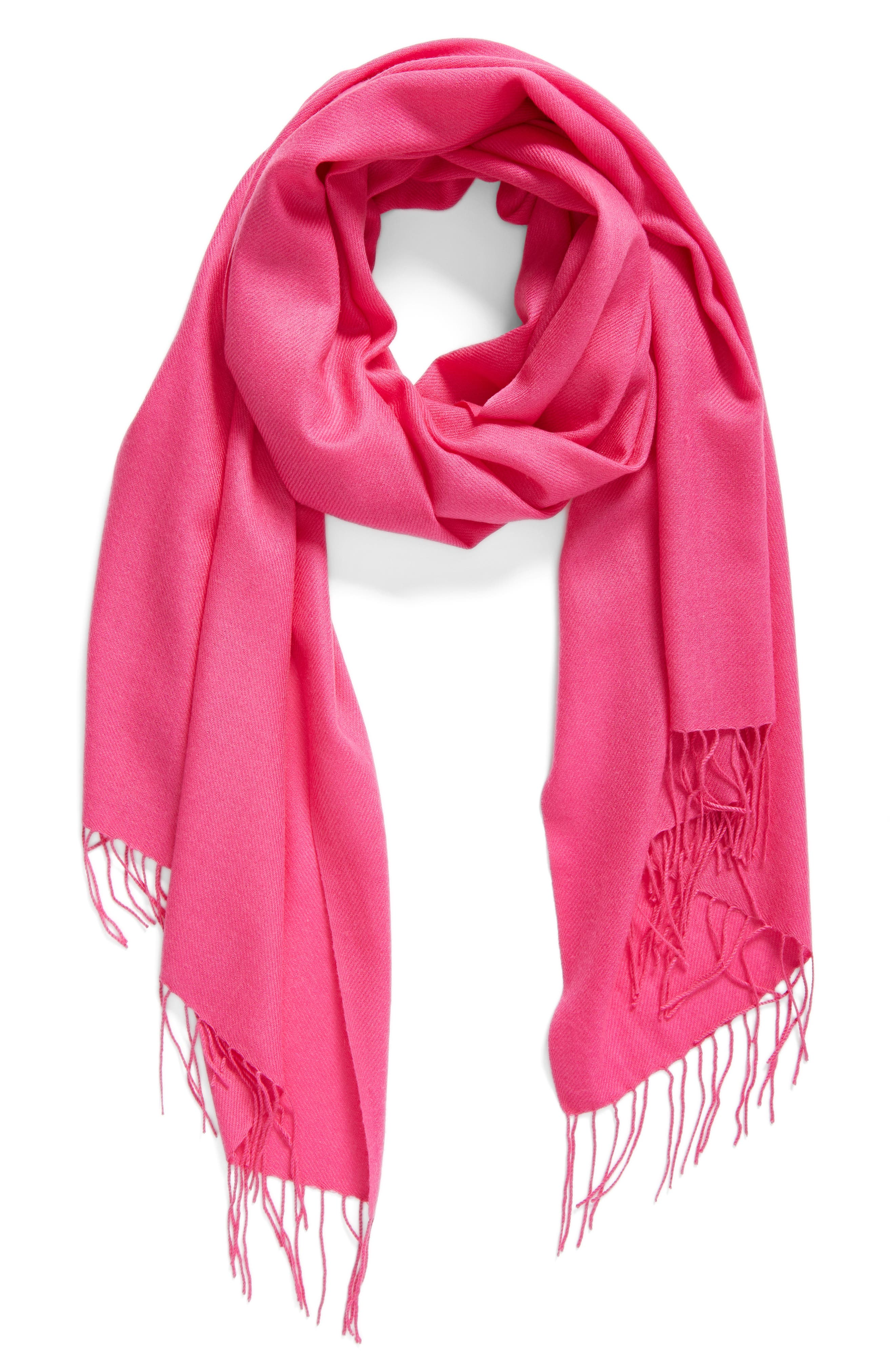 Tissue Weight Wool & Cashmere Scarf,                             Main thumbnail 68, color,