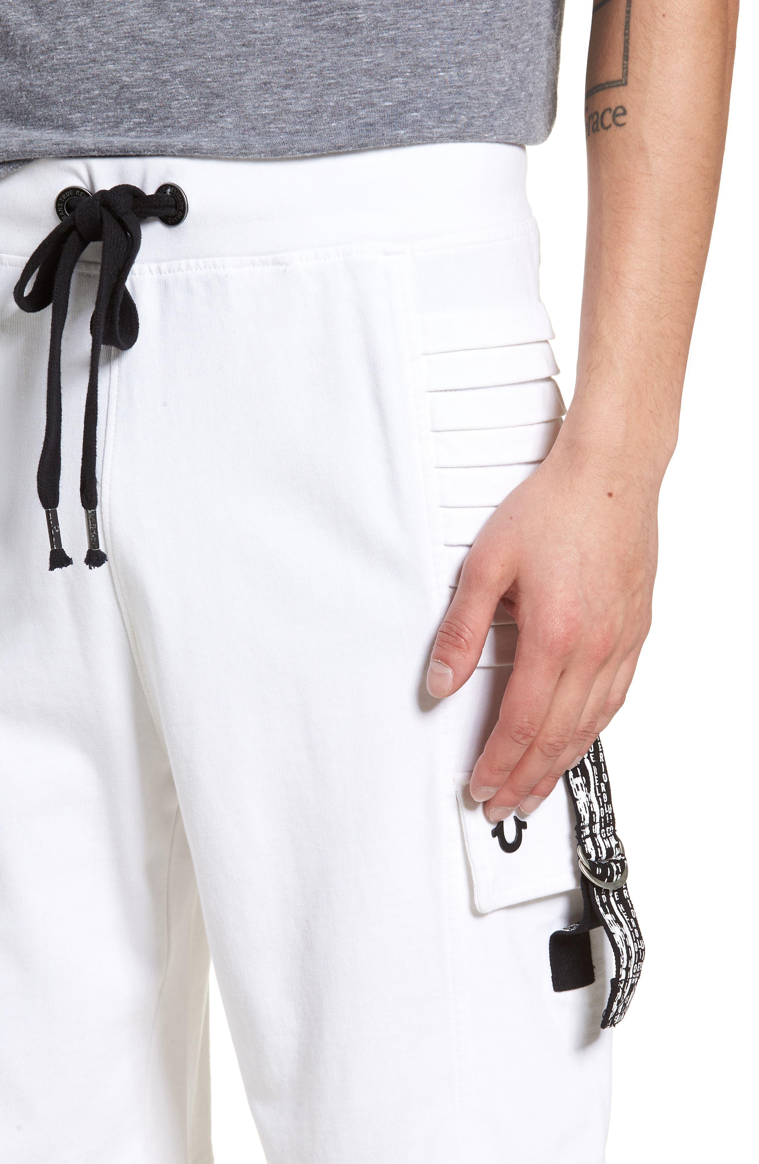 Moto Shorts,                             Alternate thumbnail 4, color,                             WHITE