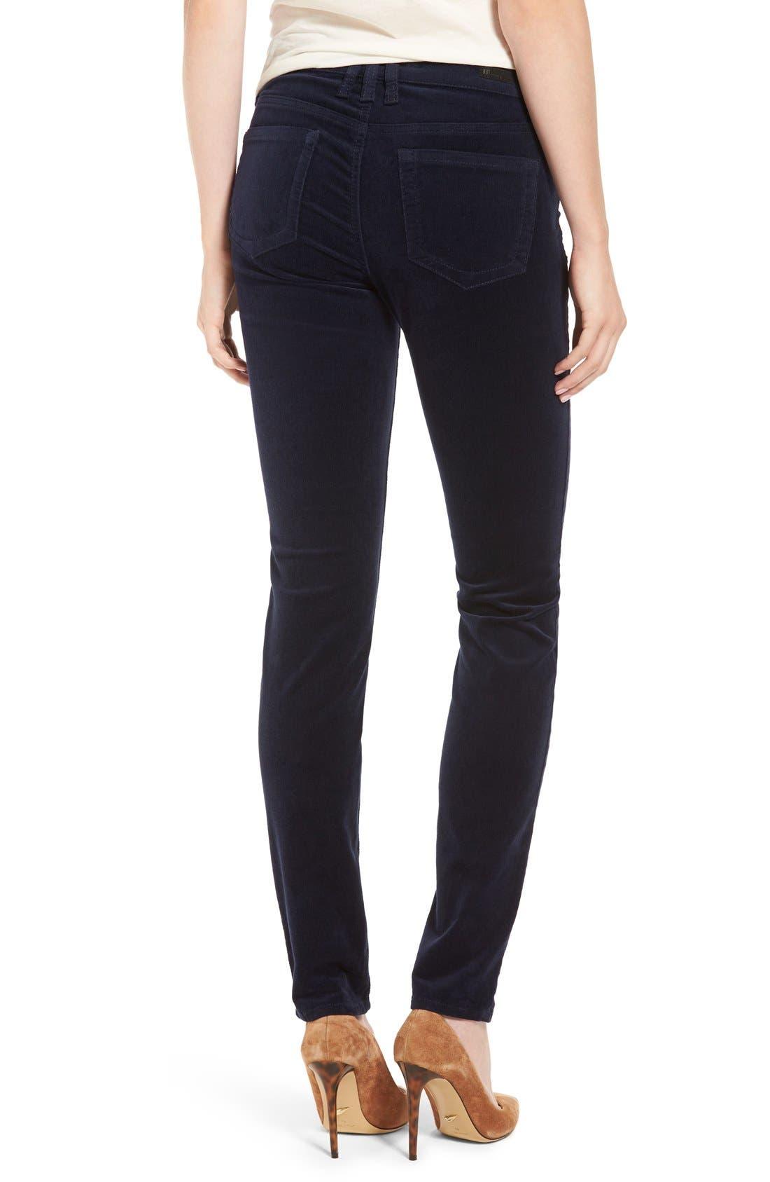 'Diana' Stretch Corduroy Skinny Pants,                             Alternate thumbnail 134, color,