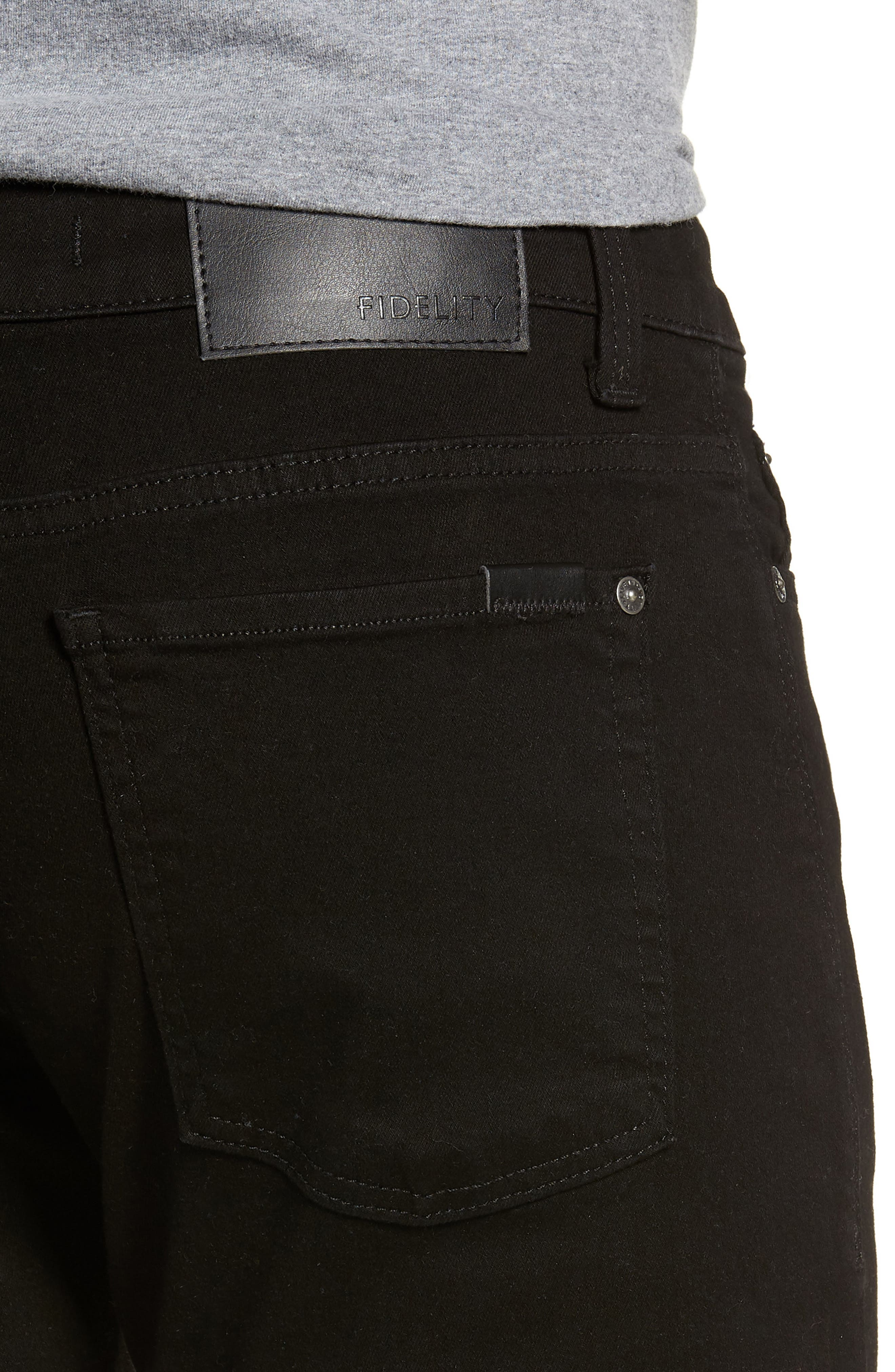 50-11 Relaxed Fit Jeans,                             Alternate thumbnail 4, color,                             GOTHAM BLACK