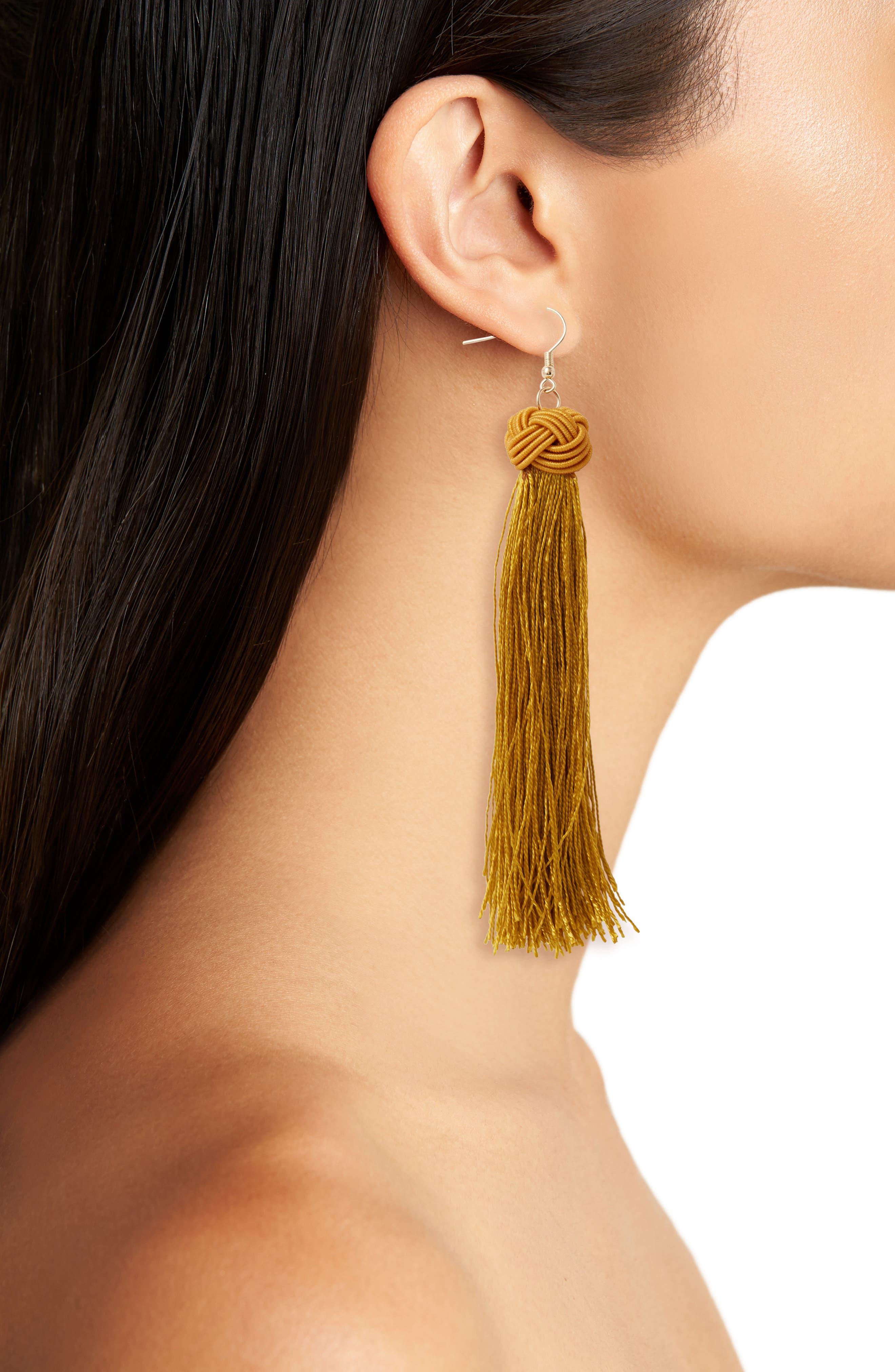 Tassel Earrings,                             Alternate thumbnail 6, color,