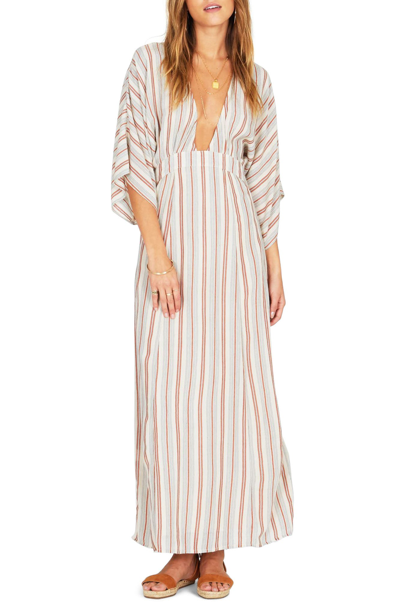 Forever & Day Stripe Maxi Dress,                             Main thumbnail 2, color,