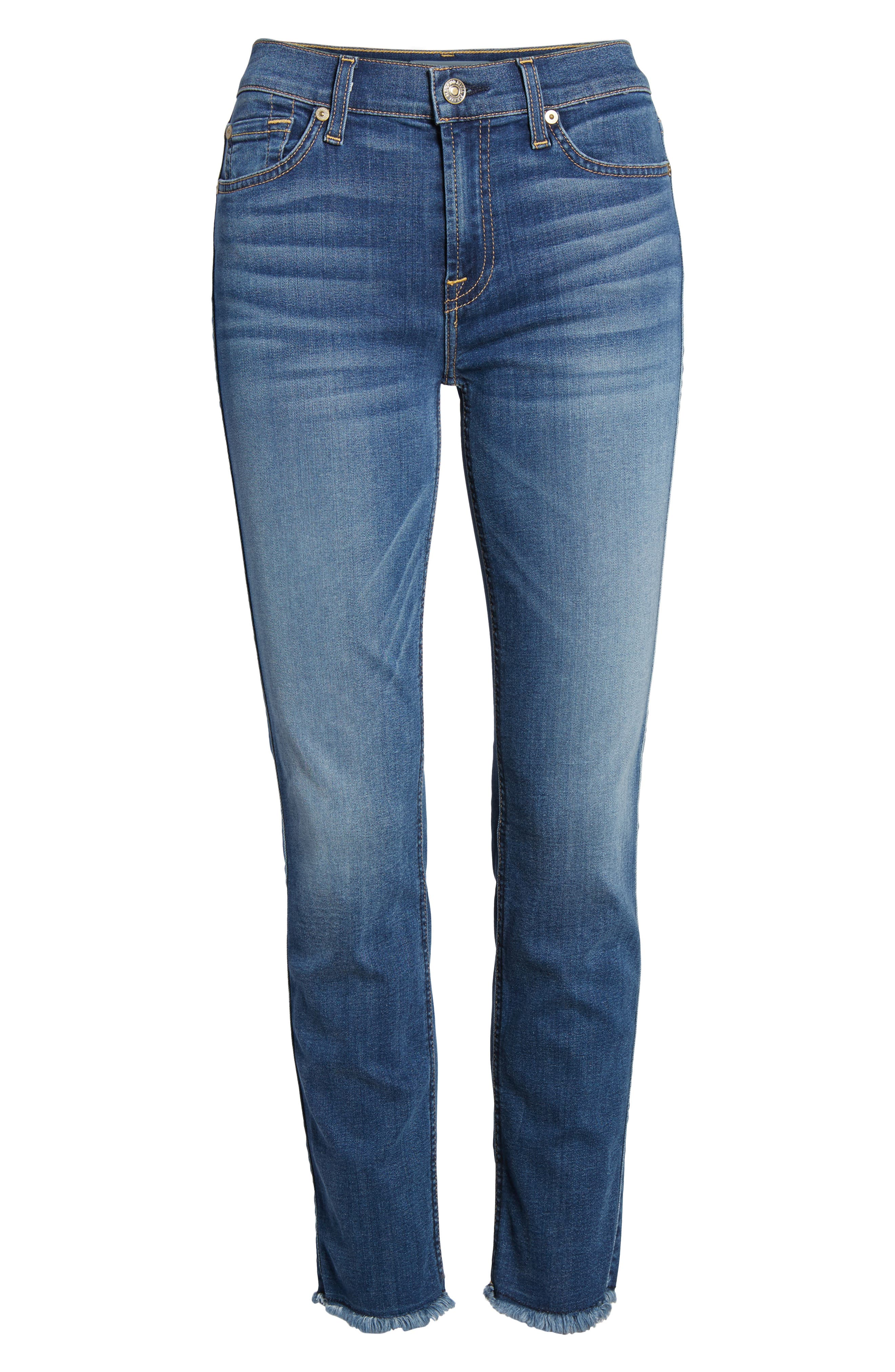 7 FOR ALL MANKIND<SUP>®</SUP>,                             b(air) Roxanne Ankle Straight Leg Jeans,                             Alternate thumbnail 7, color,                             BAIR VINTAGE DUSK