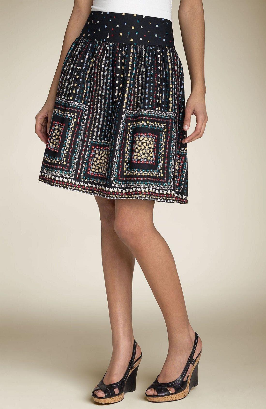 MIMI CHICA,                             Printed Skirt,                             Main thumbnail 1, color,                             002