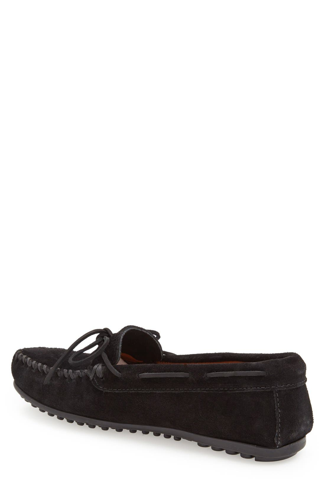 Suede Moccasin,                             Alternate thumbnail 2, color,                             BLACK