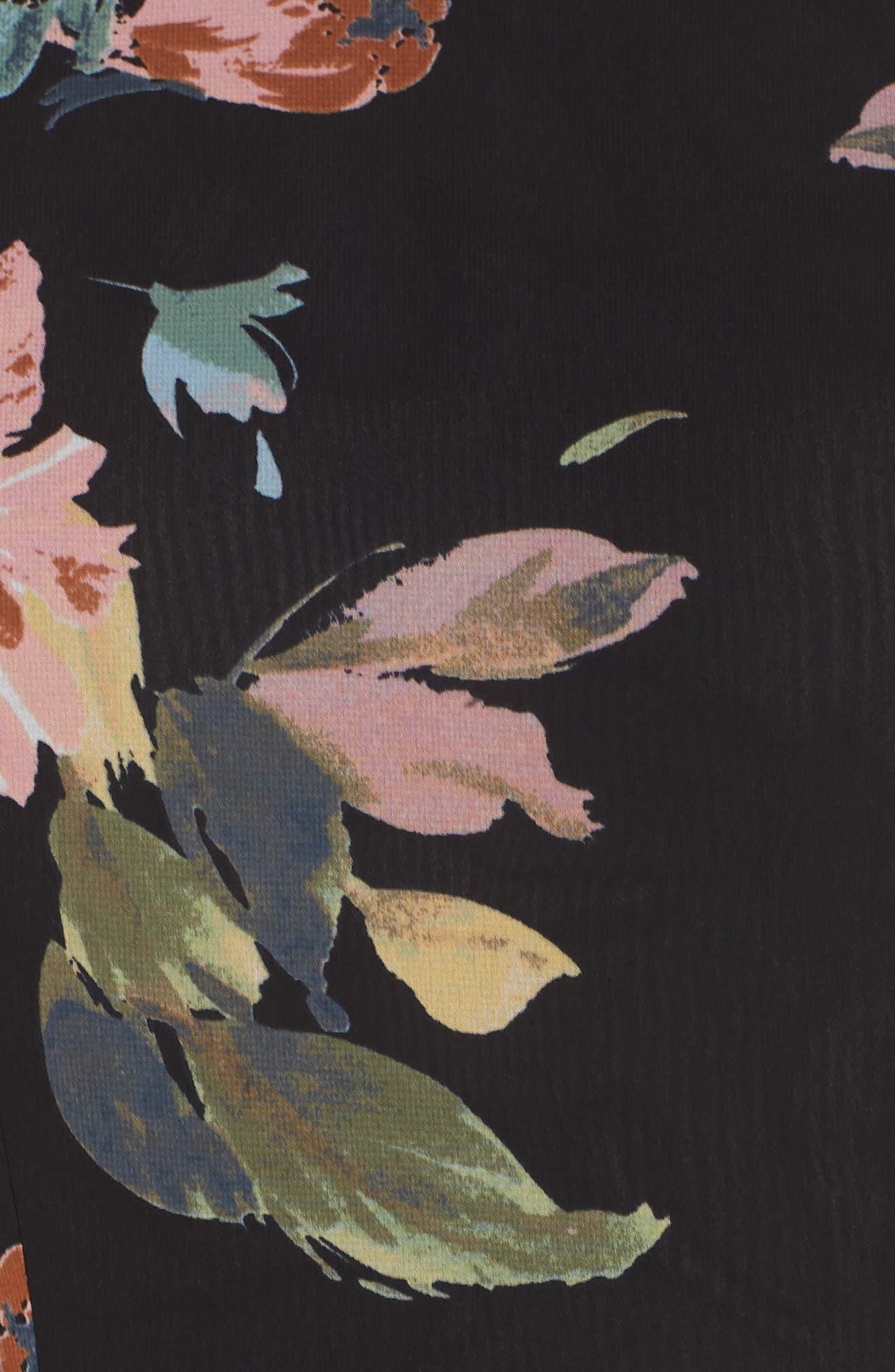 Collection Kayla Ohana Print Gown,                             Alternate thumbnail 7, color,                             BLACK MULTI