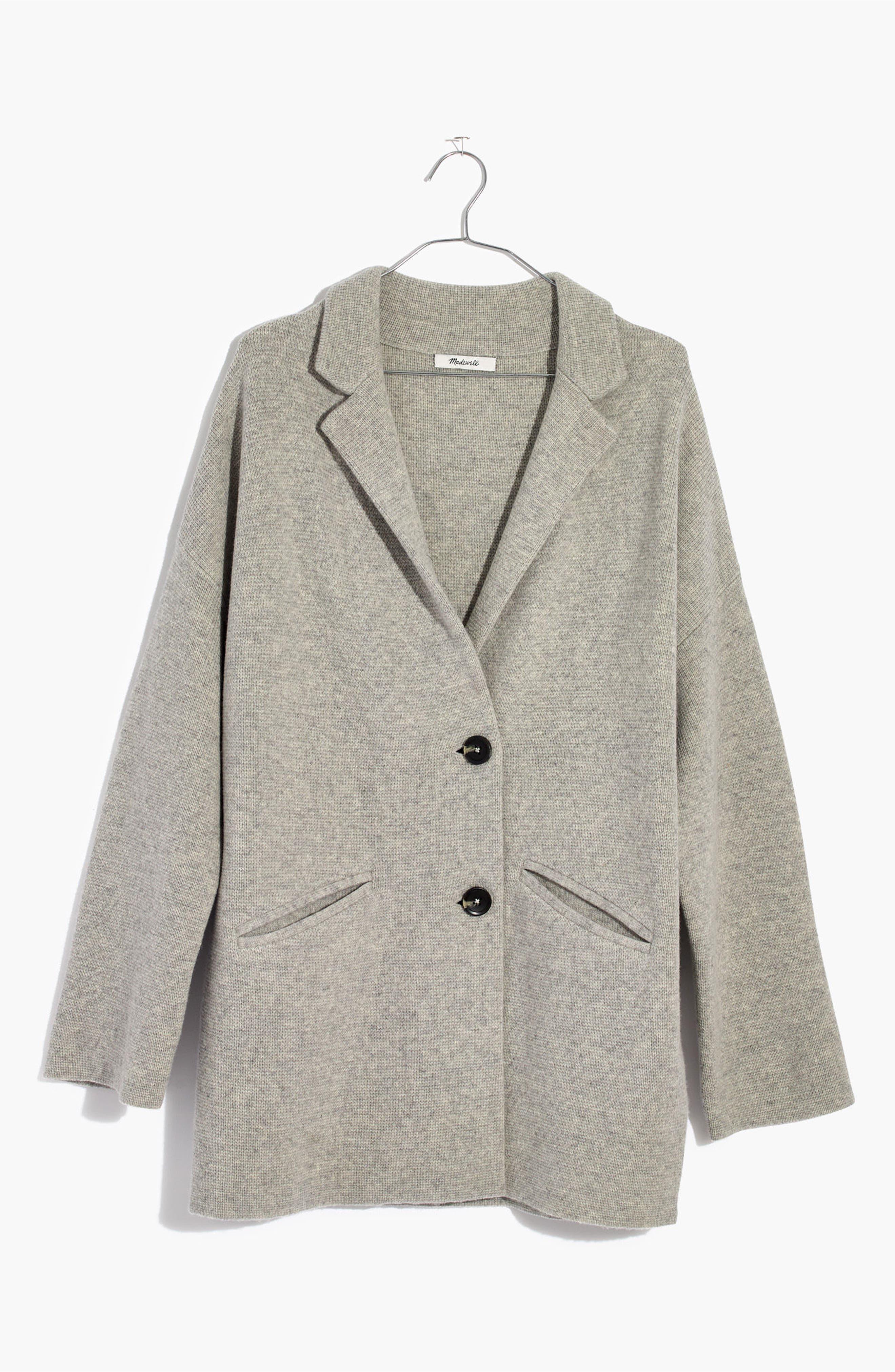 Blazer Sweater Jacket,                             Alternate thumbnail 6, color,                             020