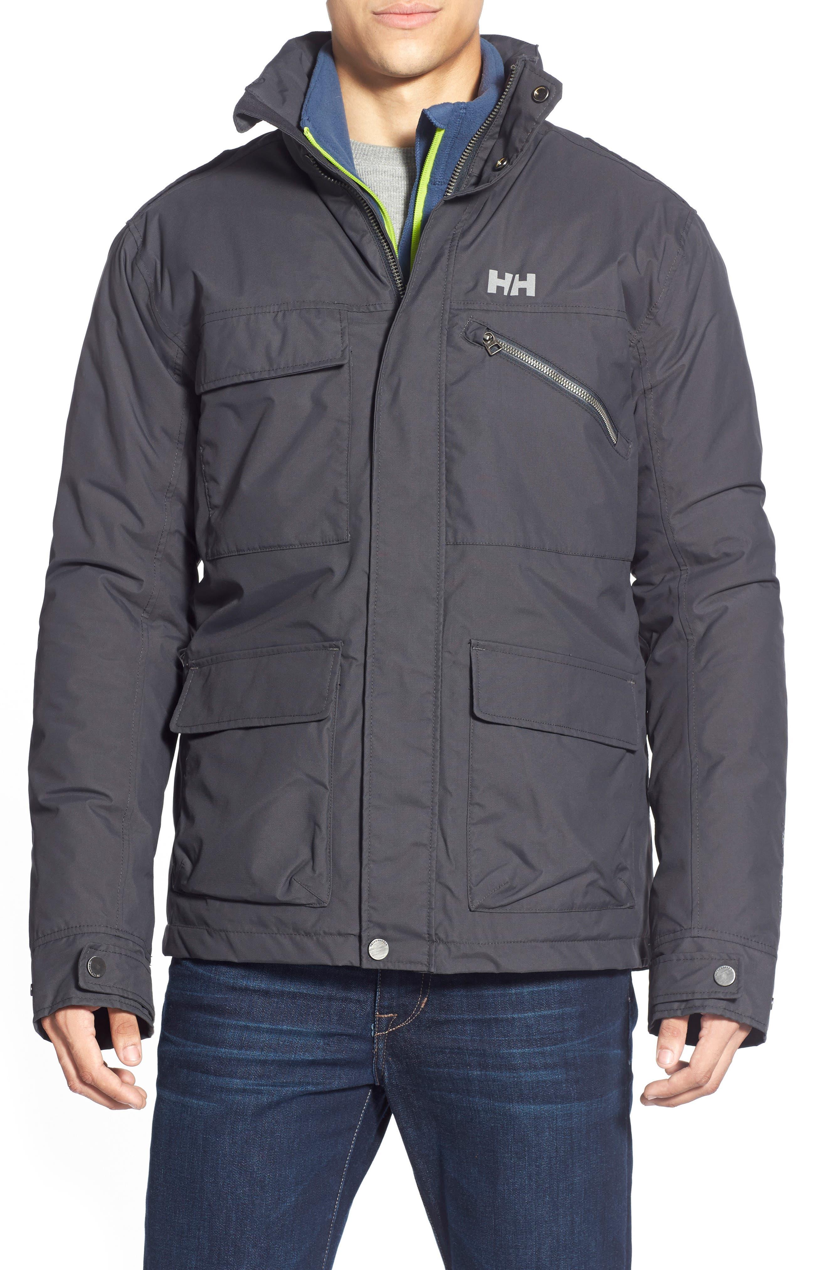 HellyHansen 'Universal' MotoRain Jacket,                             Alternate thumbnail 6, color,                             080