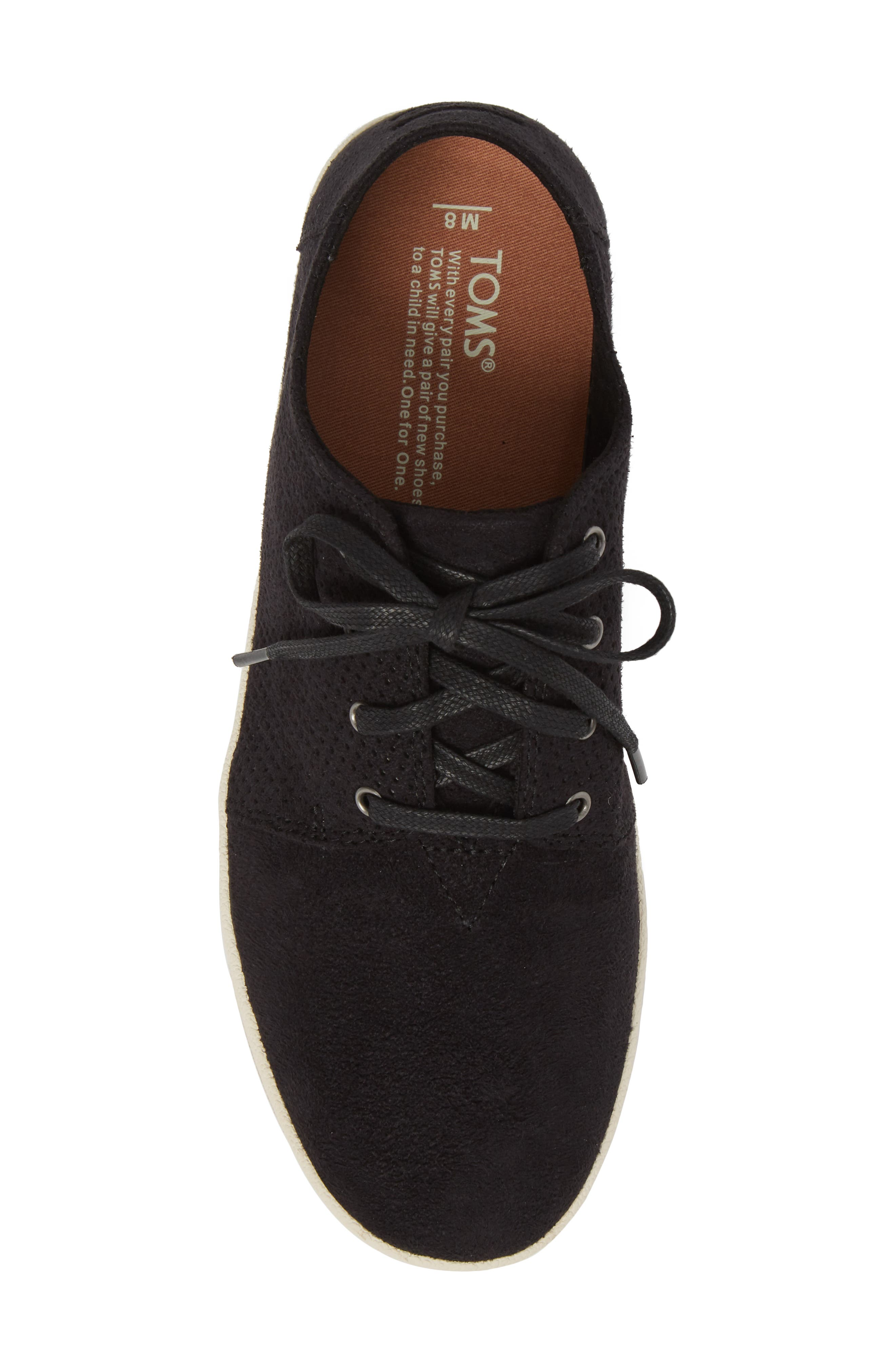 TOMS,                             Payton Perforated Sneaker,                             Alternate thumbnail 5, color,                             001