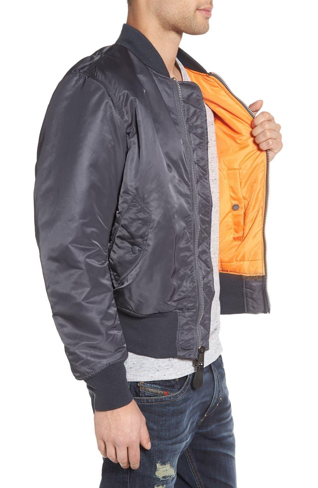 'MA-1' Slim Fit Bomber Jacket,                             Alternate thumbnail 93, color,