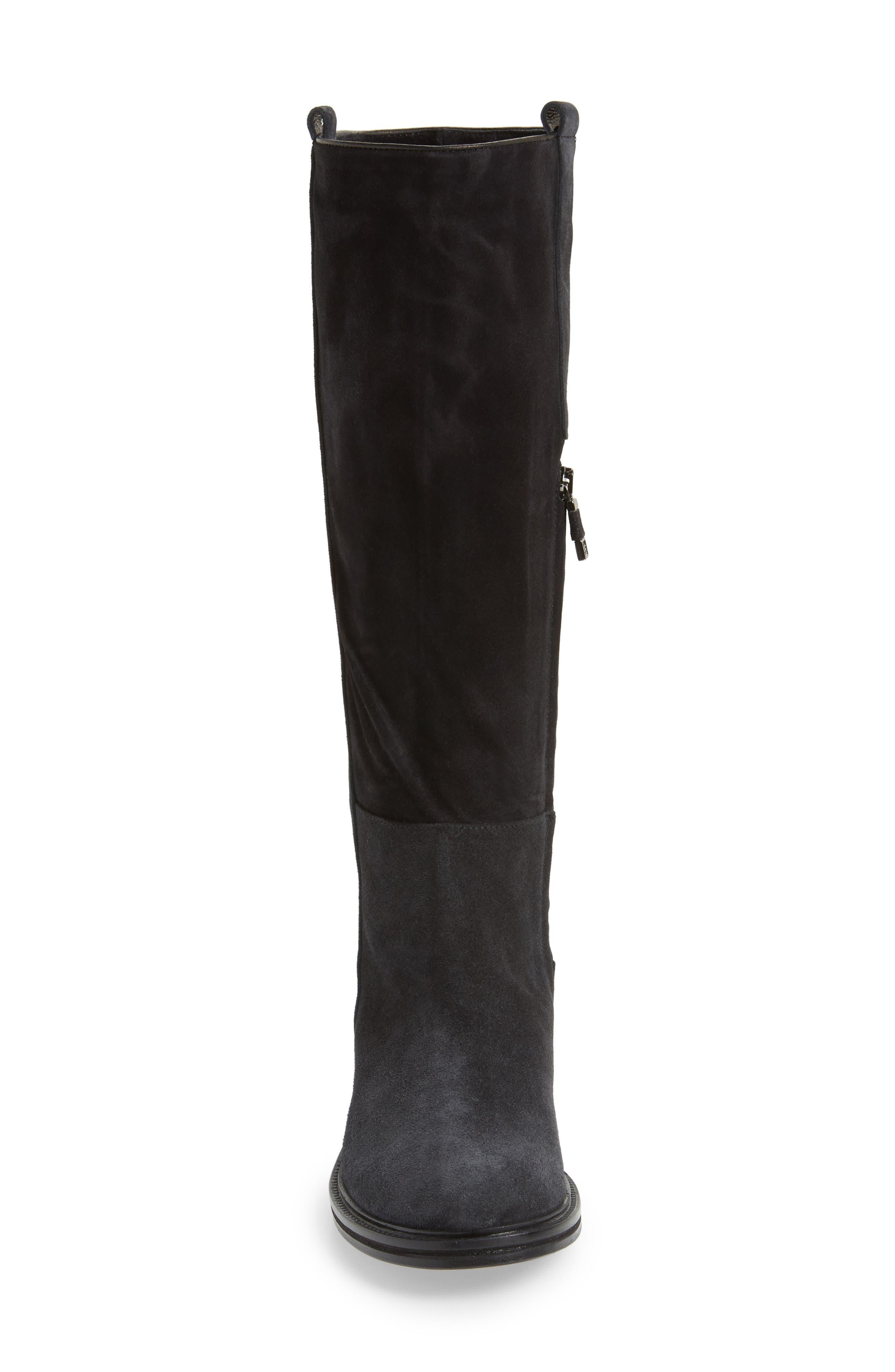Palmira Knee High Boot,                             Alternate thumbnail 4, color,                             001