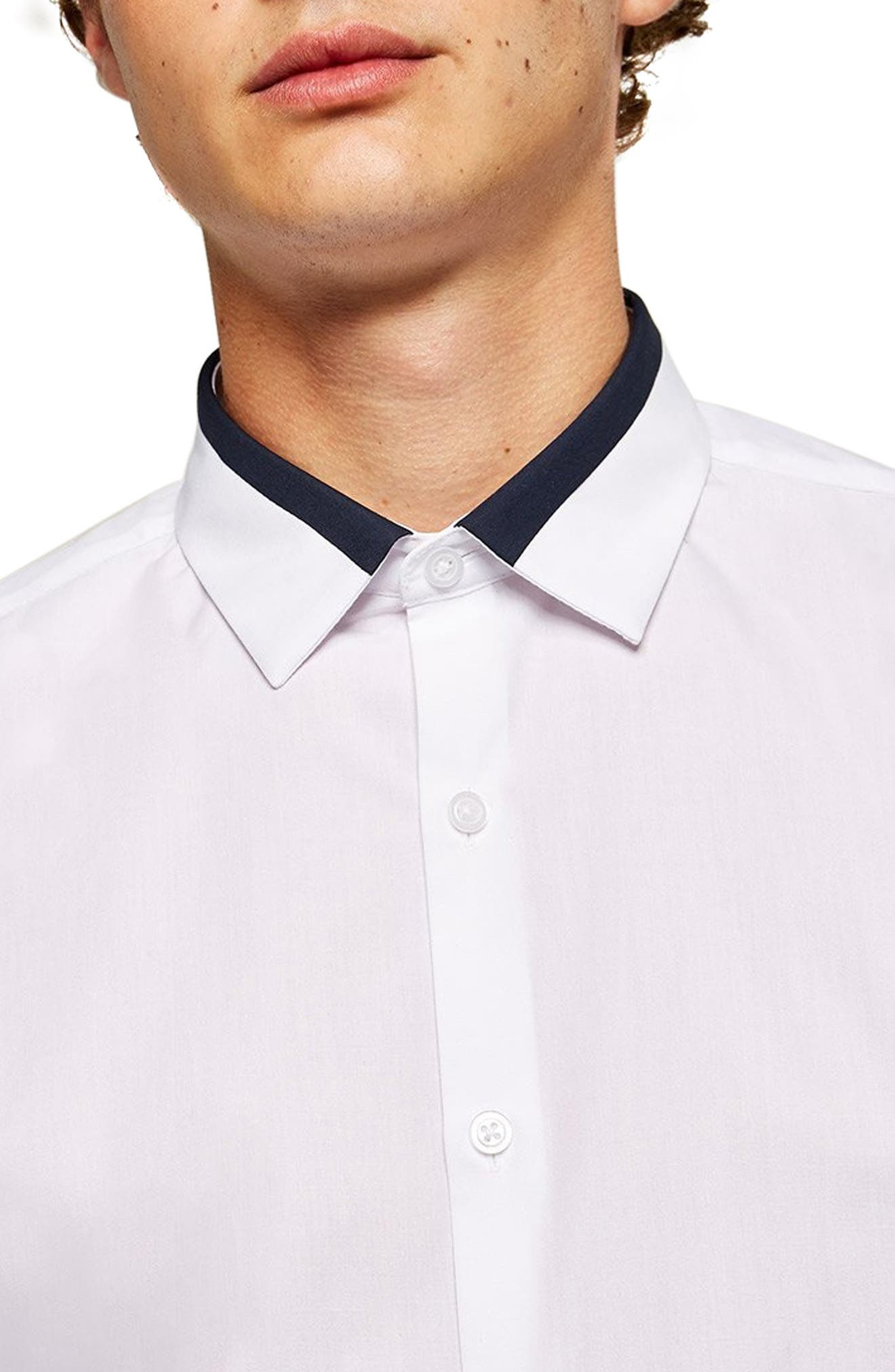 Slim Fit Panel Collar Shirt,                             Alternate thumbnail 2, color,                             100