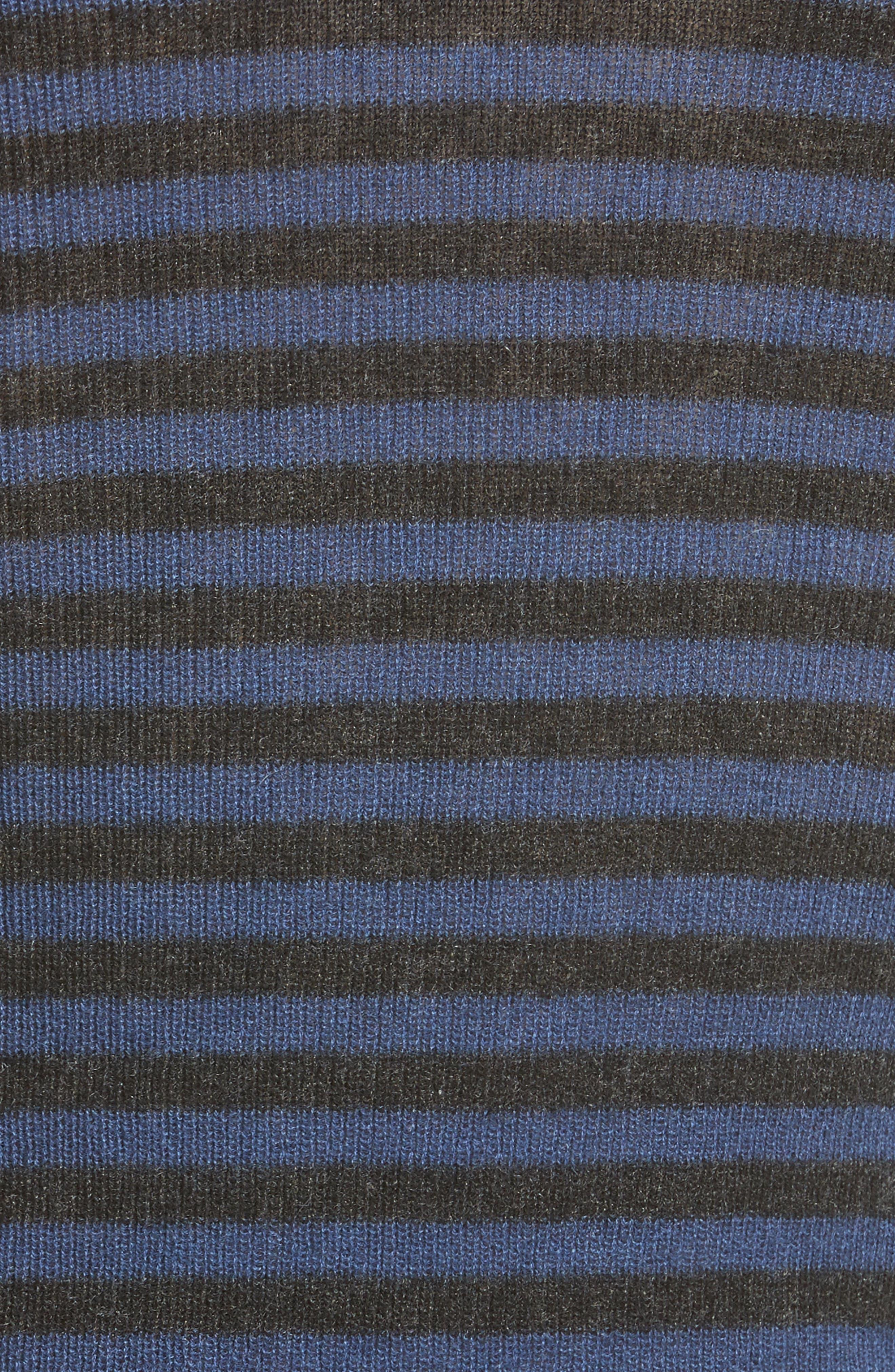 Stripe Cashmere Sweater,                             Alternate thumbnail 5, color,                             472