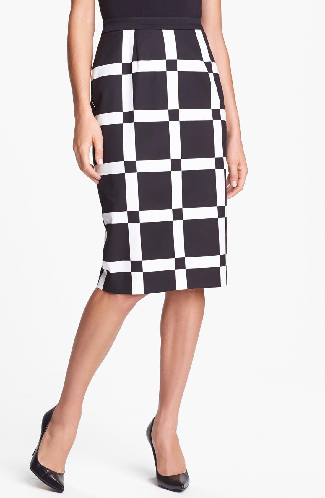 Print Pencil Skirt,                             Main thumbnail 2, color,